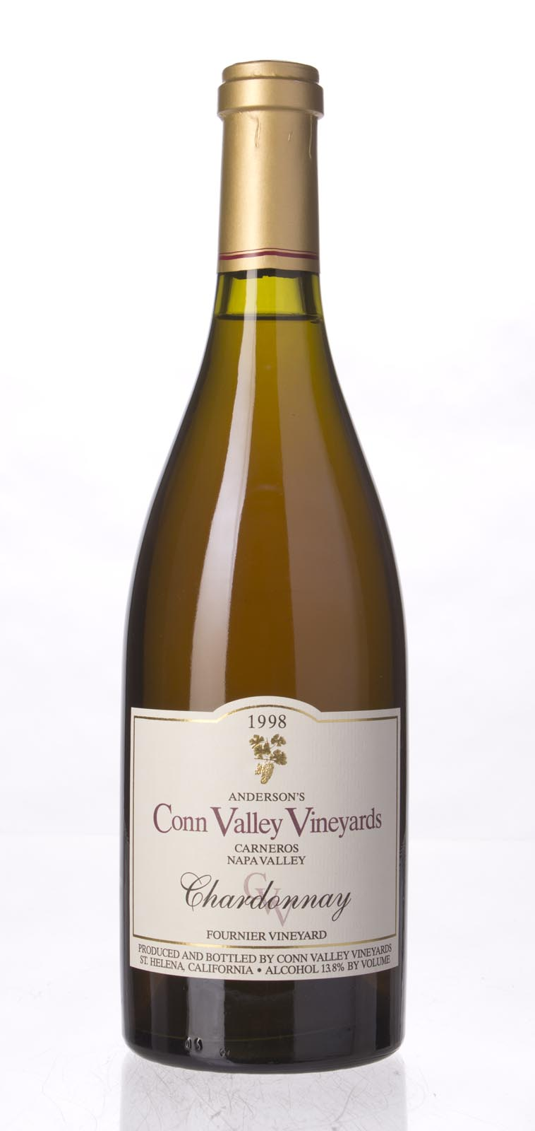 Anderson`s Conn Valley Chardonnay Fournier Vineyard 1998, 750mL (WA90) from The BPW - Merchants of rare and fine wines.