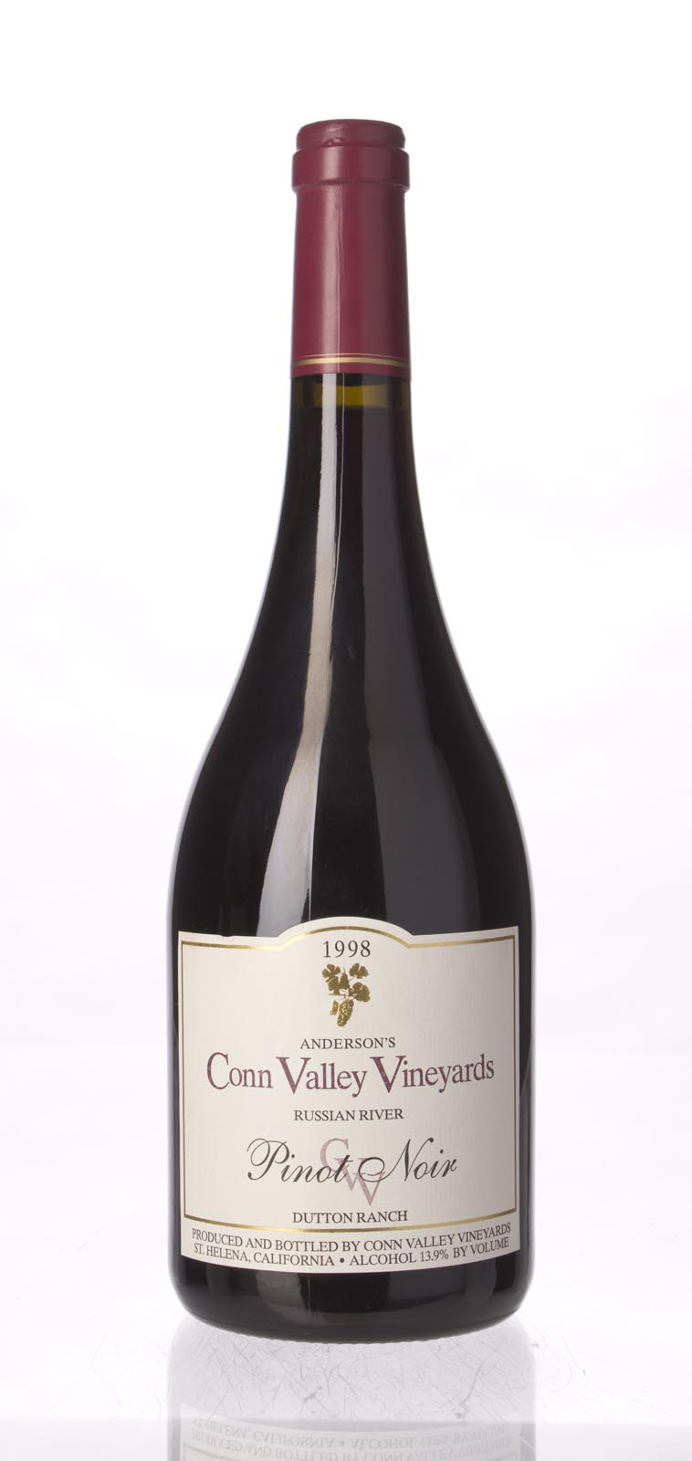 Anderson`s Conn Valley Pinot Noir Dutton Ranch 1998, 750mL (WA88) from The BPW - Merchants of rare and fine wines.