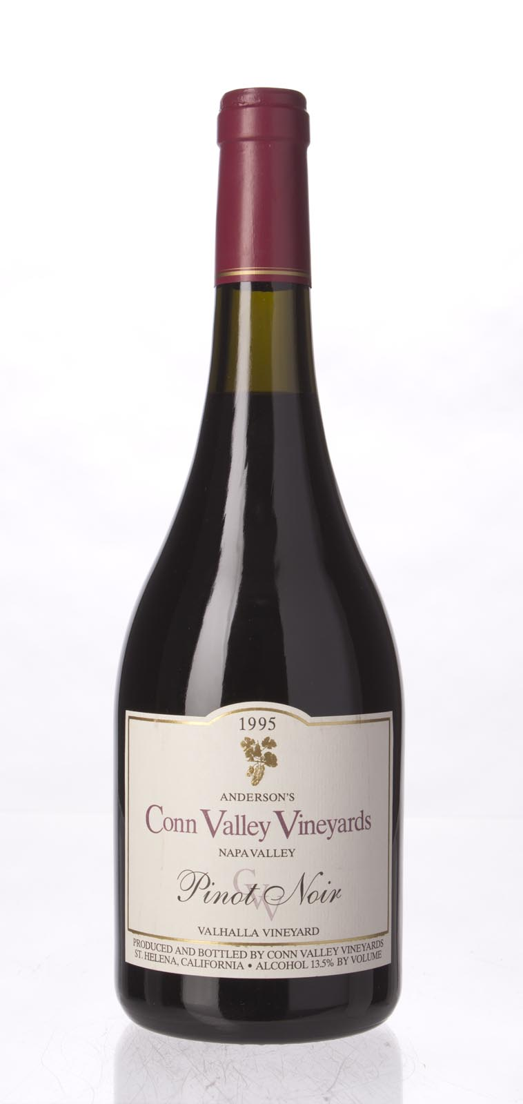 Anderson`s Conn Valley Pinot Noir Valhalla Vineyard 1995, 750mL () from The BPW - Merchants of rare and fine wines.