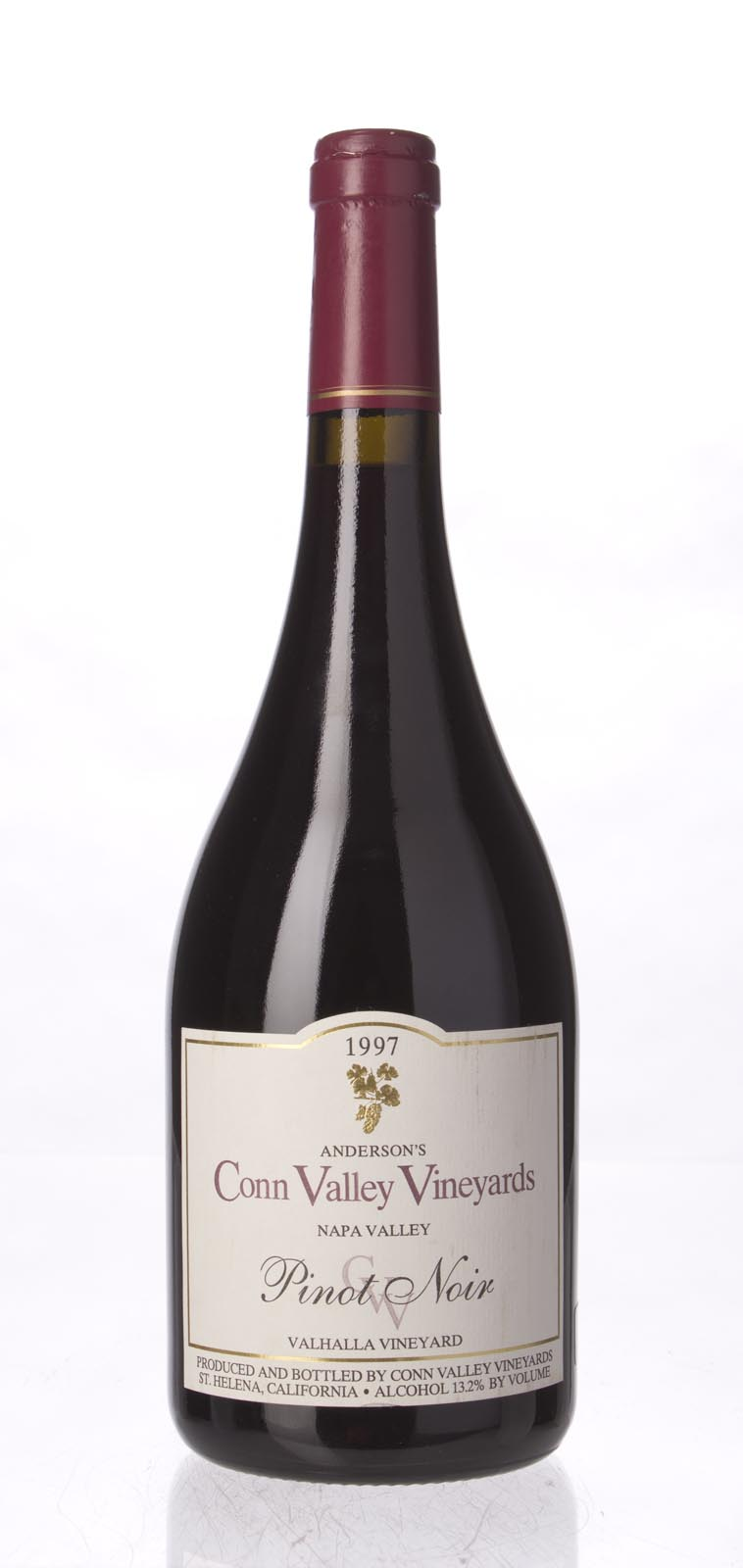 Anderson`s Conn Valley Pinot Noir Valhalla Vineyard 1997, 750mL (WA90, ST90) from The BPW - Merchants of rare and fine wines.
