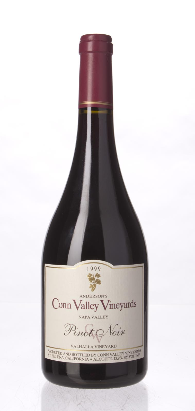 Anderson`s Conn Valley Pinot Noir Valhalla Vineyard 1999, 750mL (WA91, ST90) from The BPW - Merchants of rare and fine wines.