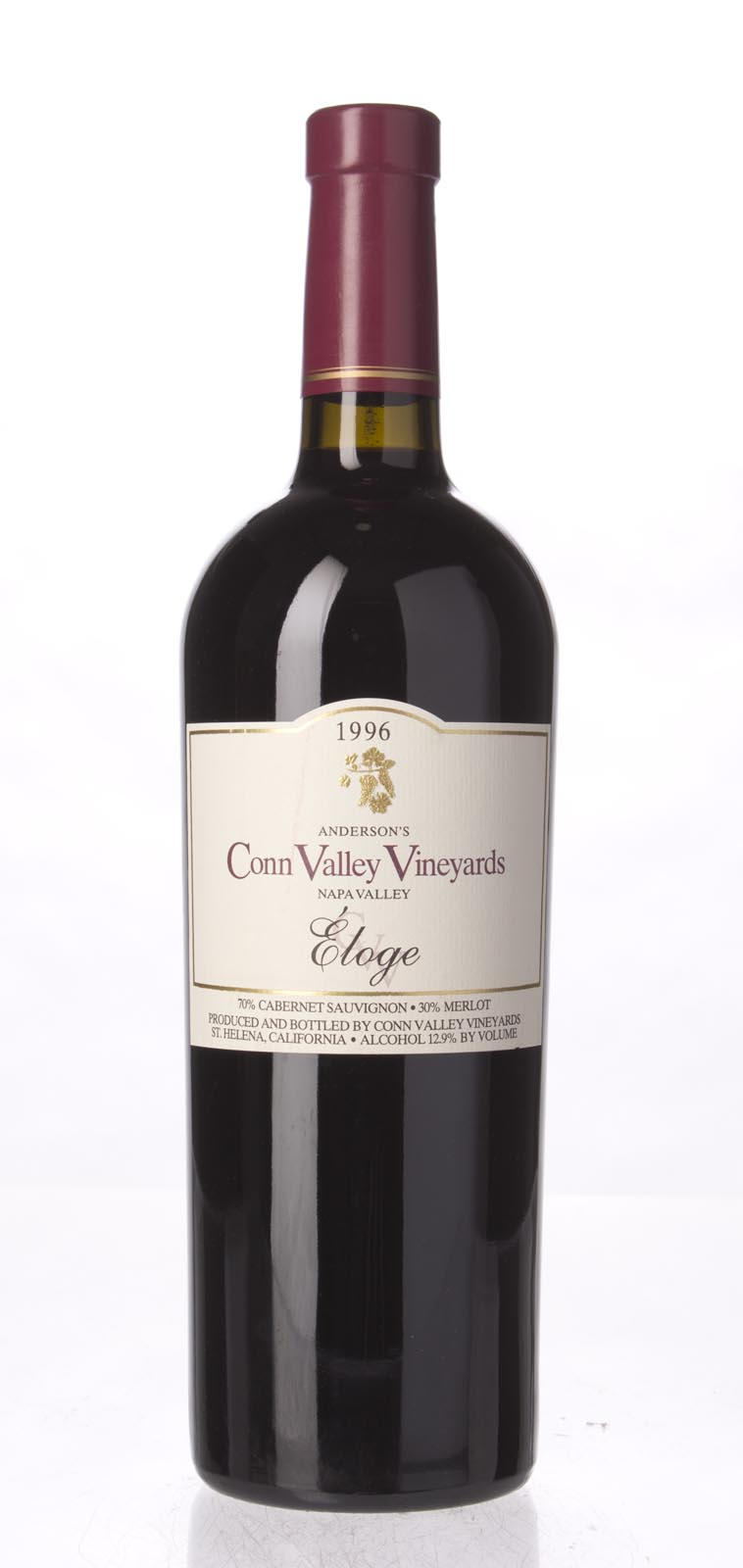 Anderson`s Conn Valley Proprietary Red Eloge 1996, 750mL (WA90, ST90) from The BPW - Merchants of rare and fine wines.