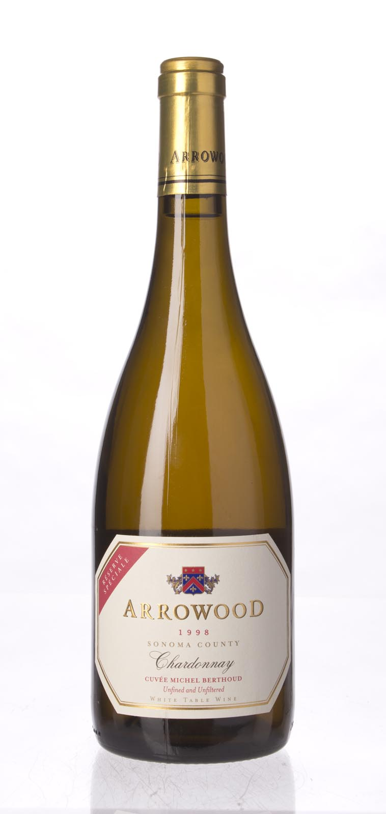 Arrowood Chardonnay Reserve Speciale Cuvee Michel Berthoud 1998, 750ml (WA89) from The BPW - Merchants of rare and fine wines.