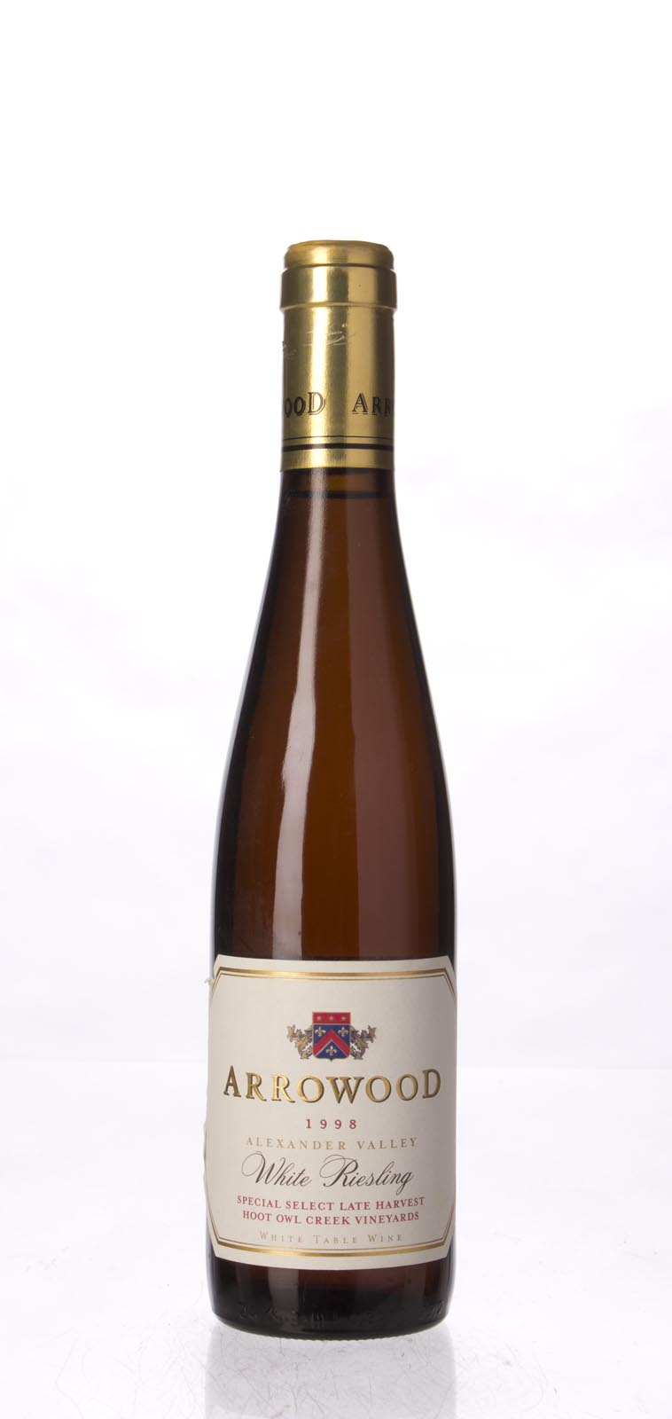 Arrowood White Riesling Special Select Late Harvest Hoot Owl Creek 1998, 375ml (WA94, WS95) from The BPW - Merchants of rare and fine wines.