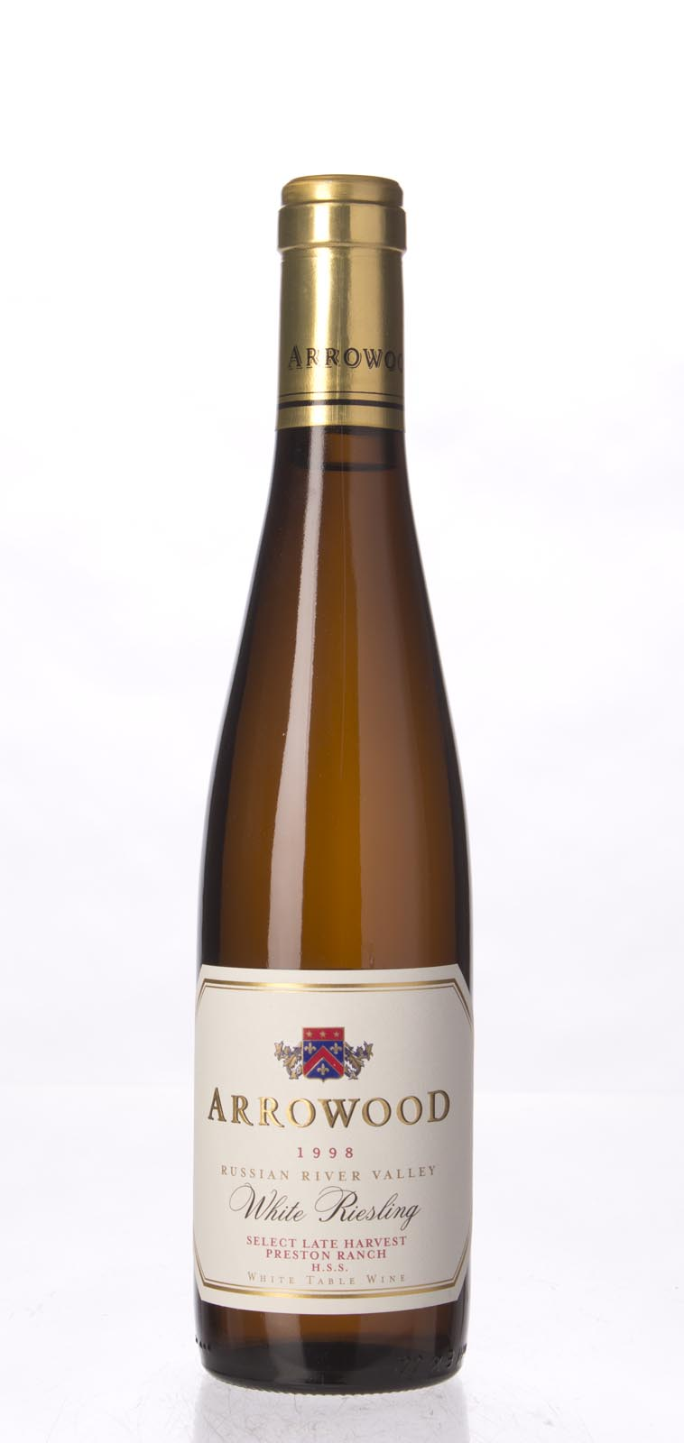 Arrowood White Riesling Special Select Late Harvest Preston Ranch 1998, 375ml (WA91, ST90) from The BPW - Merchants of rare and fine wines.