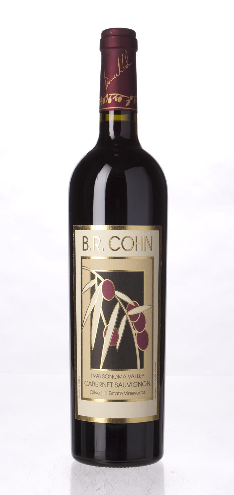B.R. Cohn Cabernet Sauvignon Olive Hill Vineyard 1998, 750mL () from The BPW - Merchants of rare and fine wines.