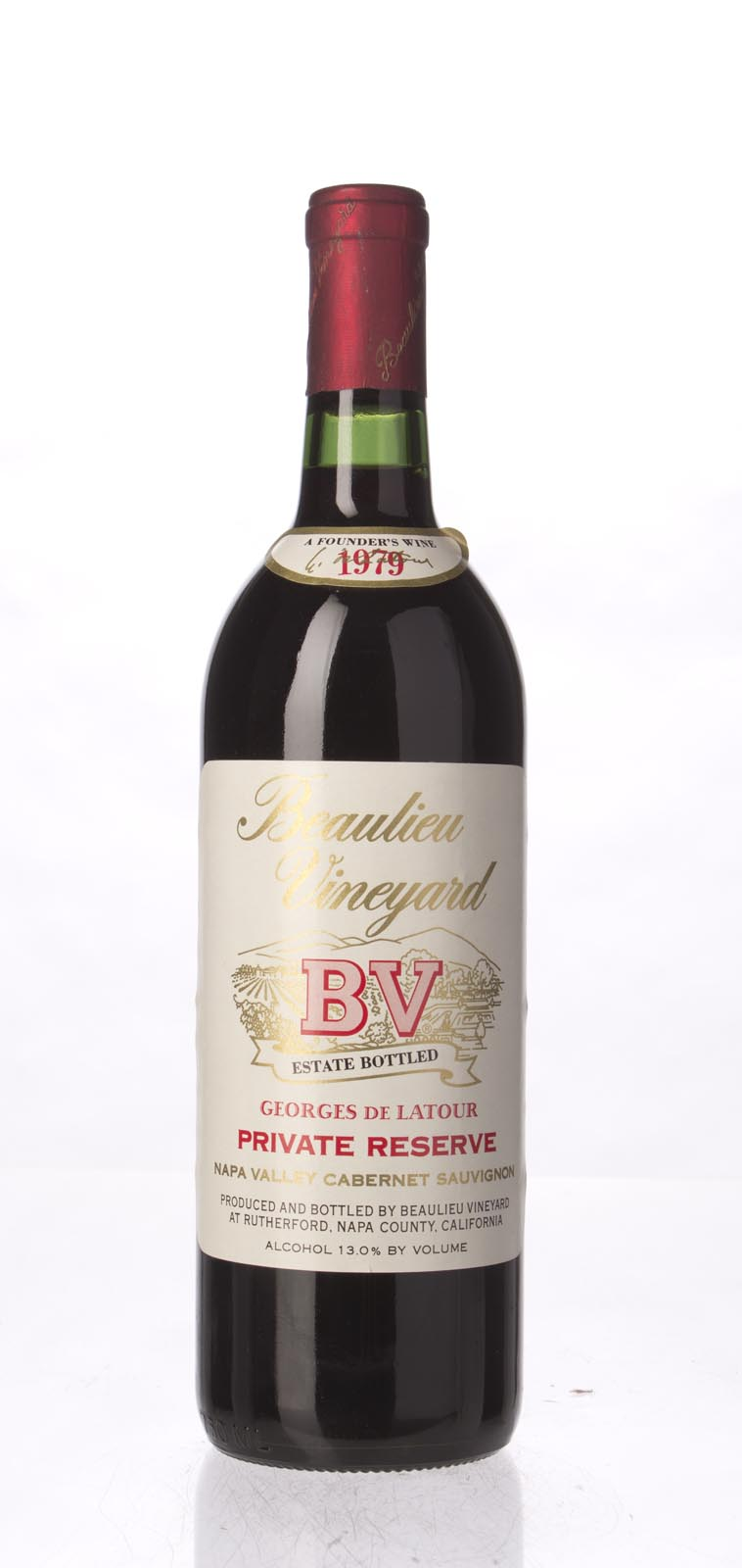 Beaulieu Vineyard Cabernet Sauvignon Private Reserve Georges de Latour 1979, 750mL (WA90, WS93) from The BPW - Merchants of rare and fine wines.