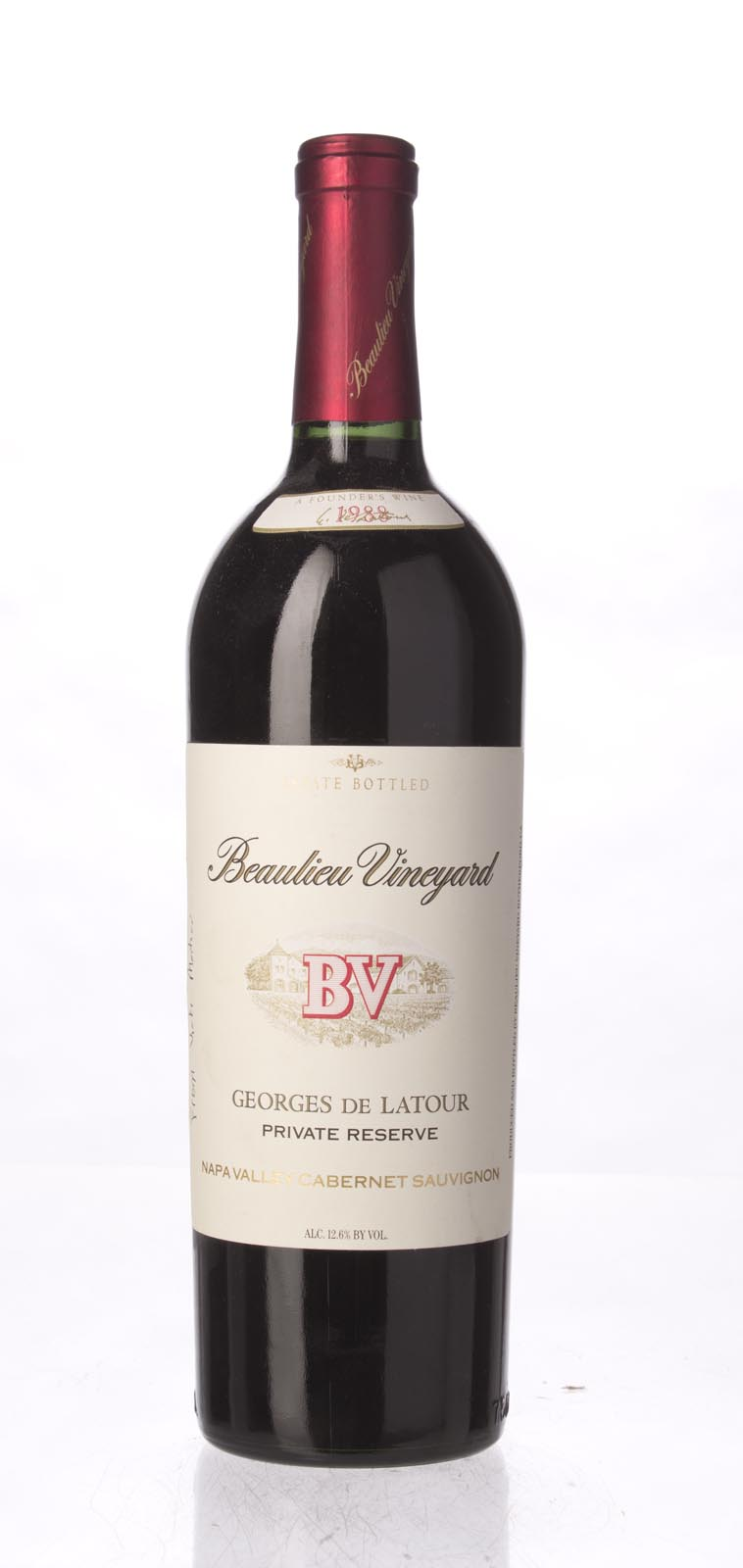 Beaulieu Vineyard Cabernet Sauvignon Private Reserve Georges de Latour 1988, 750mL () from The BPW - Merchants of rare and fine wines.