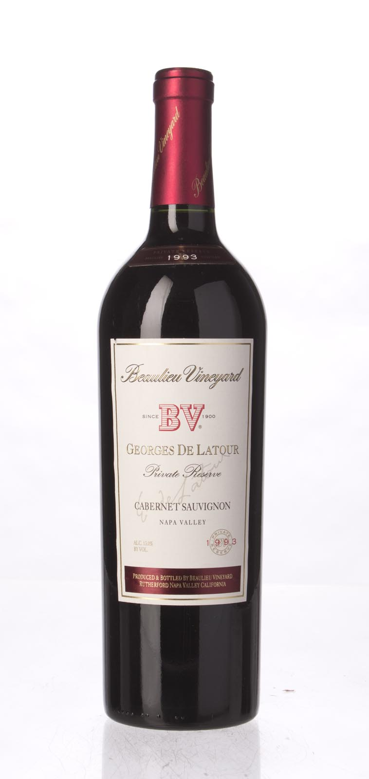Beaulieu Vineyard Cabernet Sauvignon Private Reserve Georges de Latour 1993, 750mL (WS91) from The BPW - Merchants of rare and fine wines.