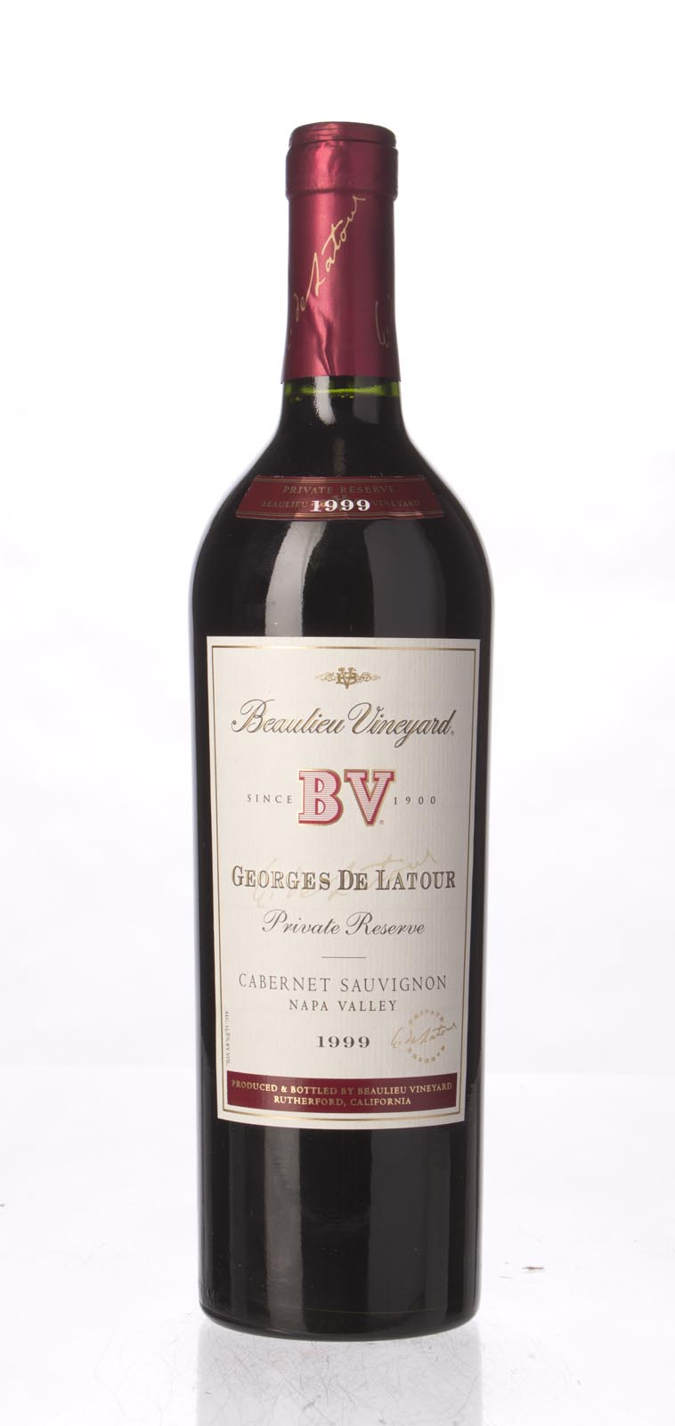 Beaulieu Vineyard Cabernet Sauvignon Private Reserve Georges de Latour 1999, 750mL (WS91-94) from The BPW - Merchants of rare and fine wines.