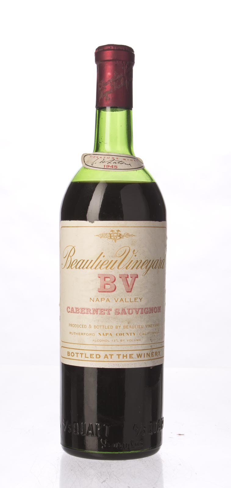 Beaulieu Vineyard Cabernet Sauvignon Rutherford 1945, 750ml () from The BPW - Merchants of rare and fine wines.