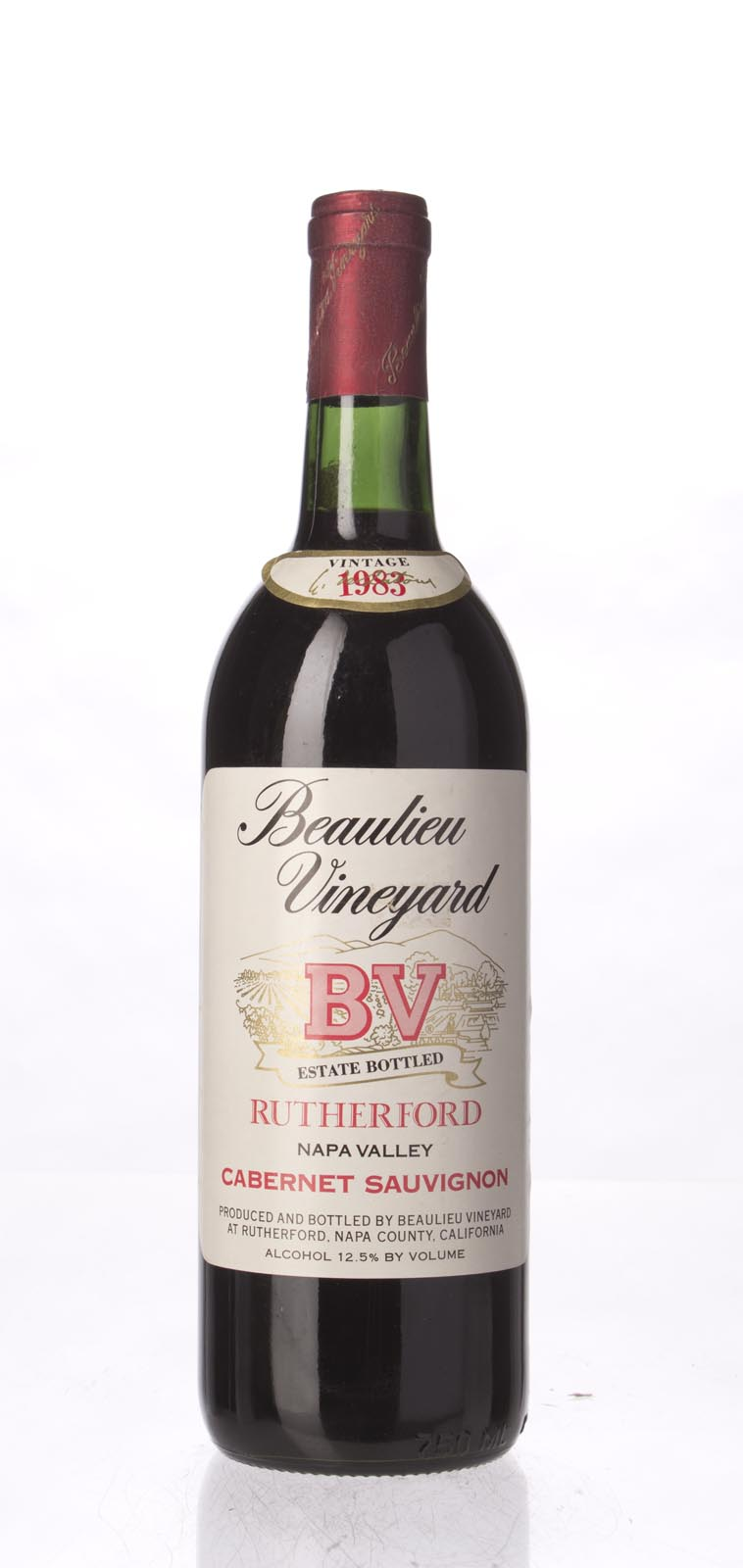 Beaulieu Vineyard Cabernet Sauvignon Rutherford 1983, 750mL () from The BPW - Merchants of rare and fine wines.