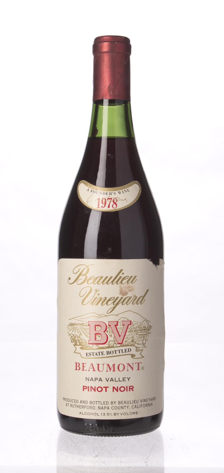 Beaulieu Vineyard Pinot Noir Beaumont 1978,  () from The BPW - Merchants of rare and fine wines.