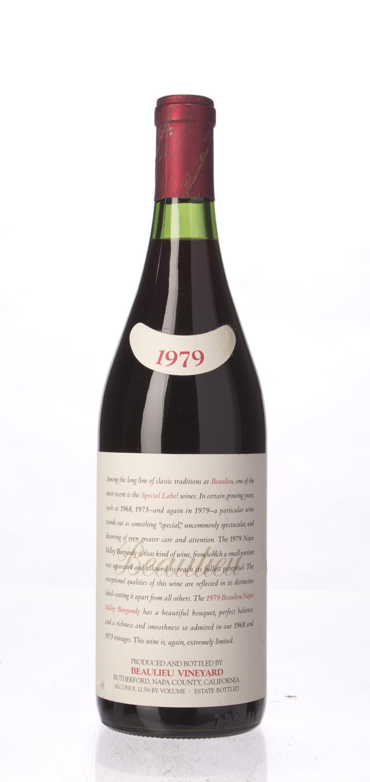 Beaulieu Vineyard Pinot Noir Burgundy Special Label 1979, 750mL () from The BPW - Merchants of rare and fine wines.