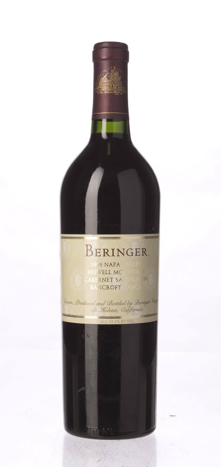 Beringer Cabernet Sauvignon Bancroft Ranch 1996, 750mL (WA92, WS92) from The BPW - Merchants of rare and fine wines.