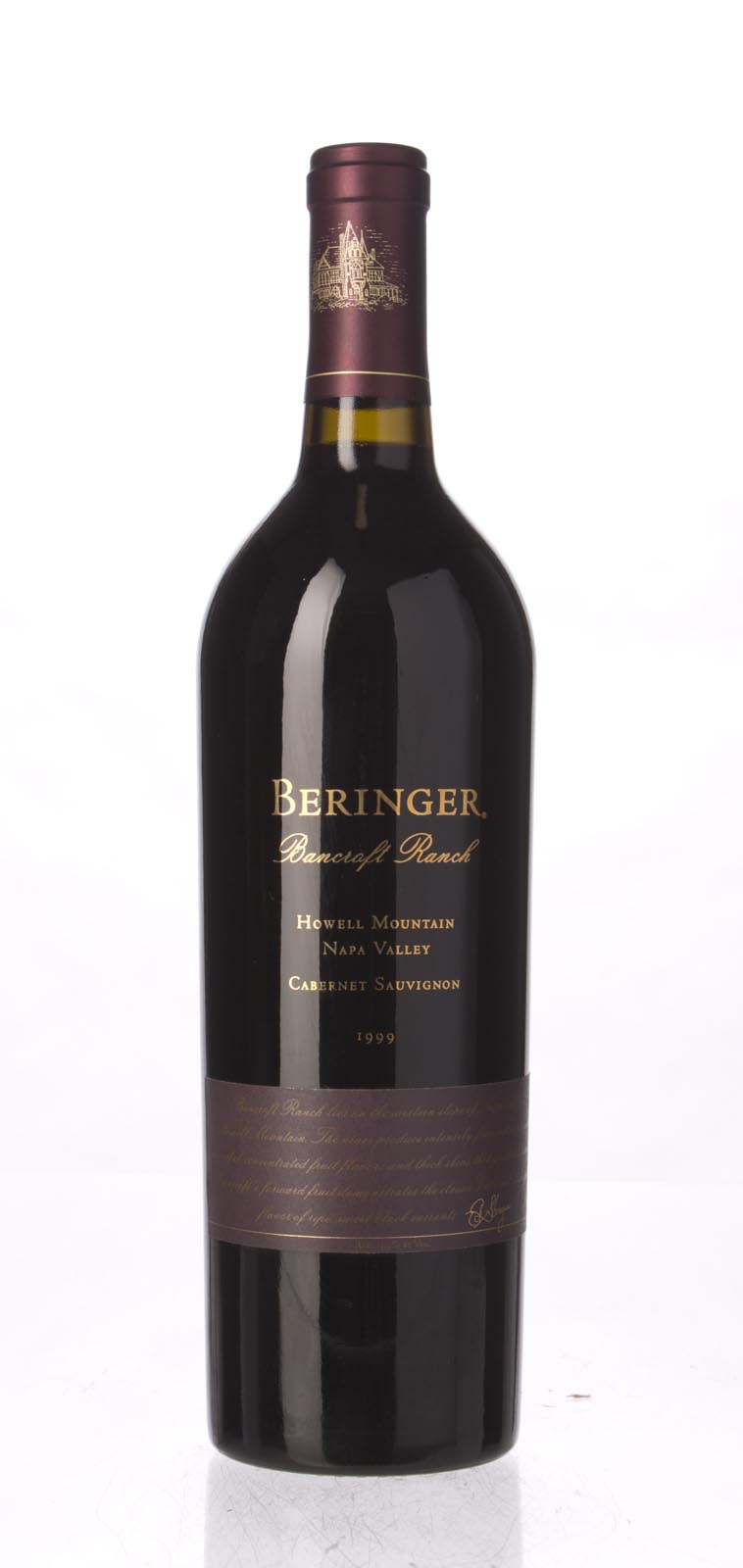 Beringer Cabernet Sauvignon Bancroft Ranch 1999, 750mL (ST92-95) from The BPW - Merchants of rare and fine wines.