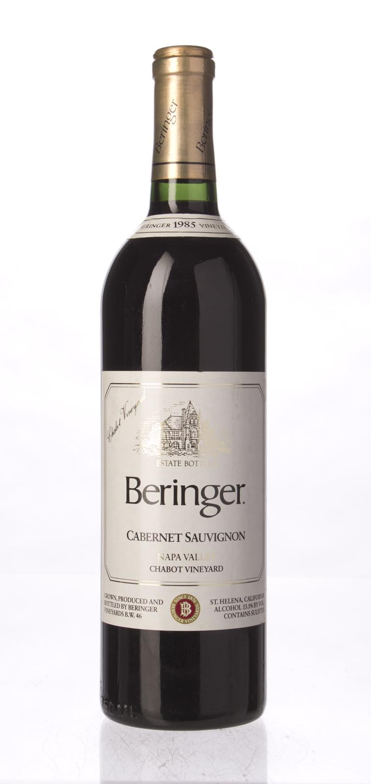 Beringer Cabernet Sauvignon Chabot Vineyard 1985, 750mL (WA92) from The BPW - Merchants of rare and fine wines.