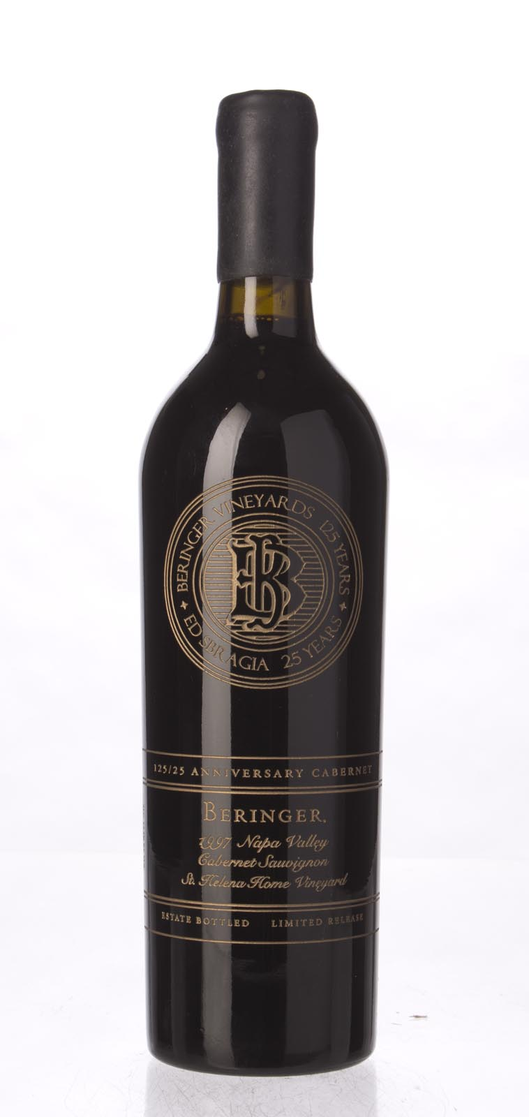 Beringer Cabernet Sauvignon Limited Release 125/25th Anniversary St Helena Home Vineyard (Etched Bottle) 1997, 750mL (WA92, ST92) from The BPW - Merchants of rare and fine wines.