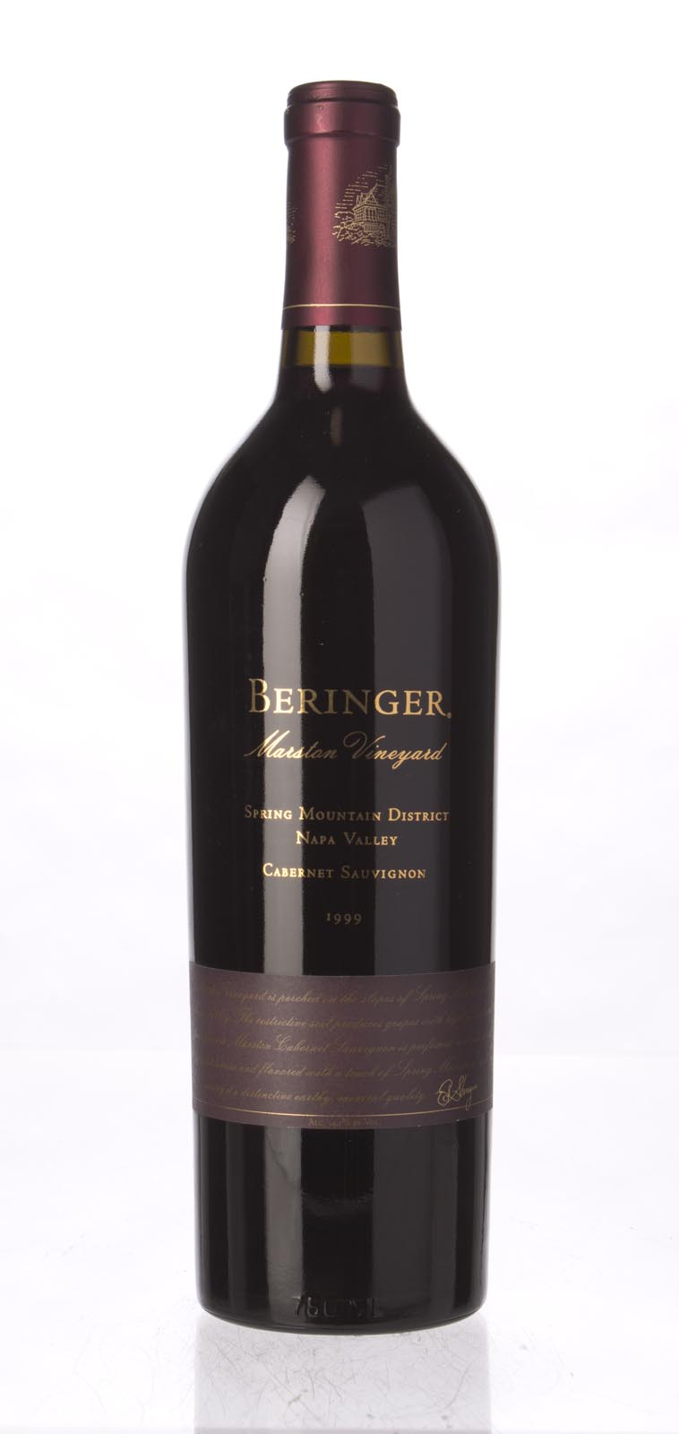 Beringer Cabernet Sauvignon Marston Vineyard 1999, 750mL () from The BPW - Merchants of rare and fine wines.