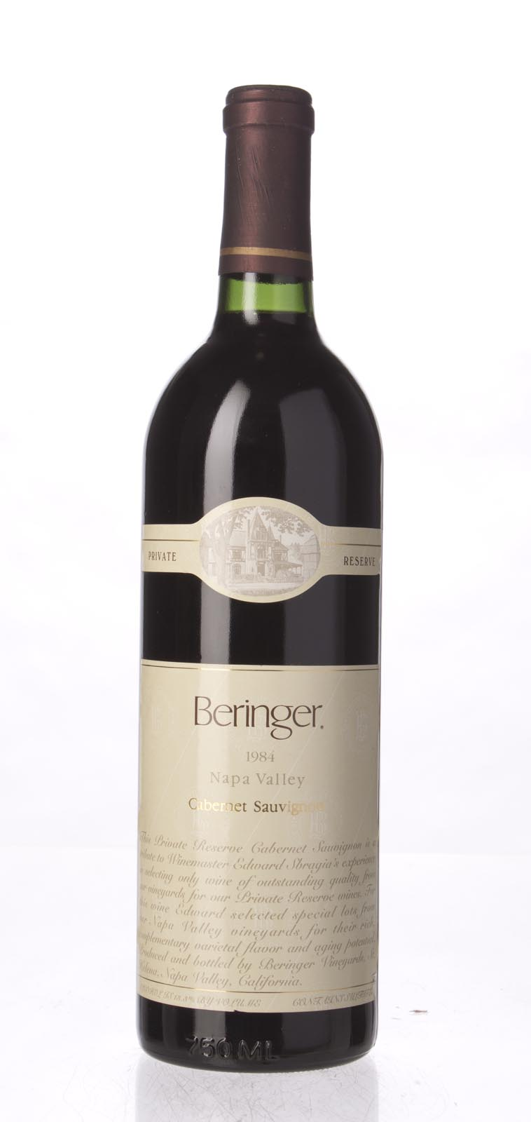 Beringer Cabernet Sauvignon Private Reserve 1984, 750mL (WS94) from The BPW - Merchants of rare and fine wines.