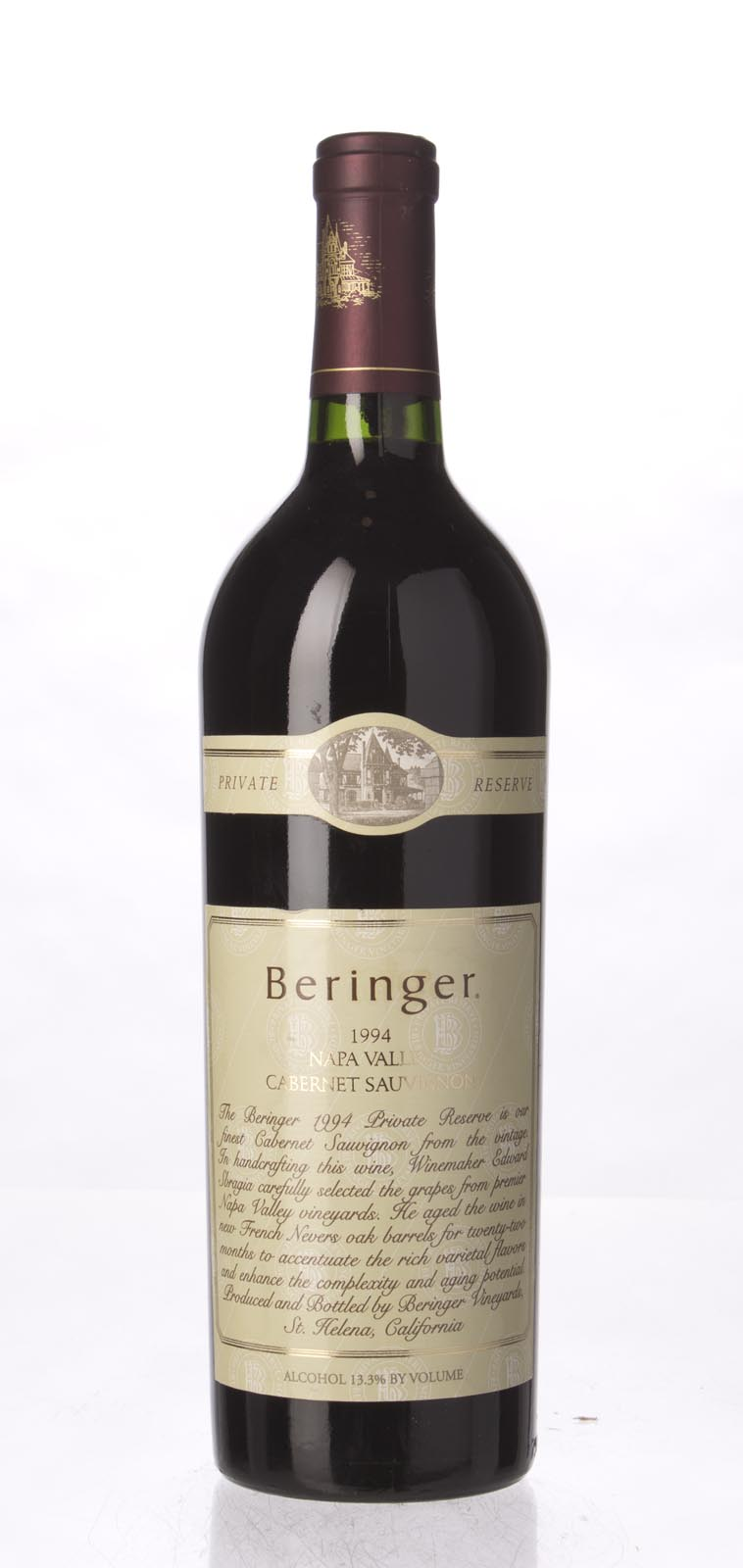 Beringer Cabernet Sauvignon Private Reserve 1994, 750mL (WA97, WS95) from The BPW - Merchants of rare and fine wines.