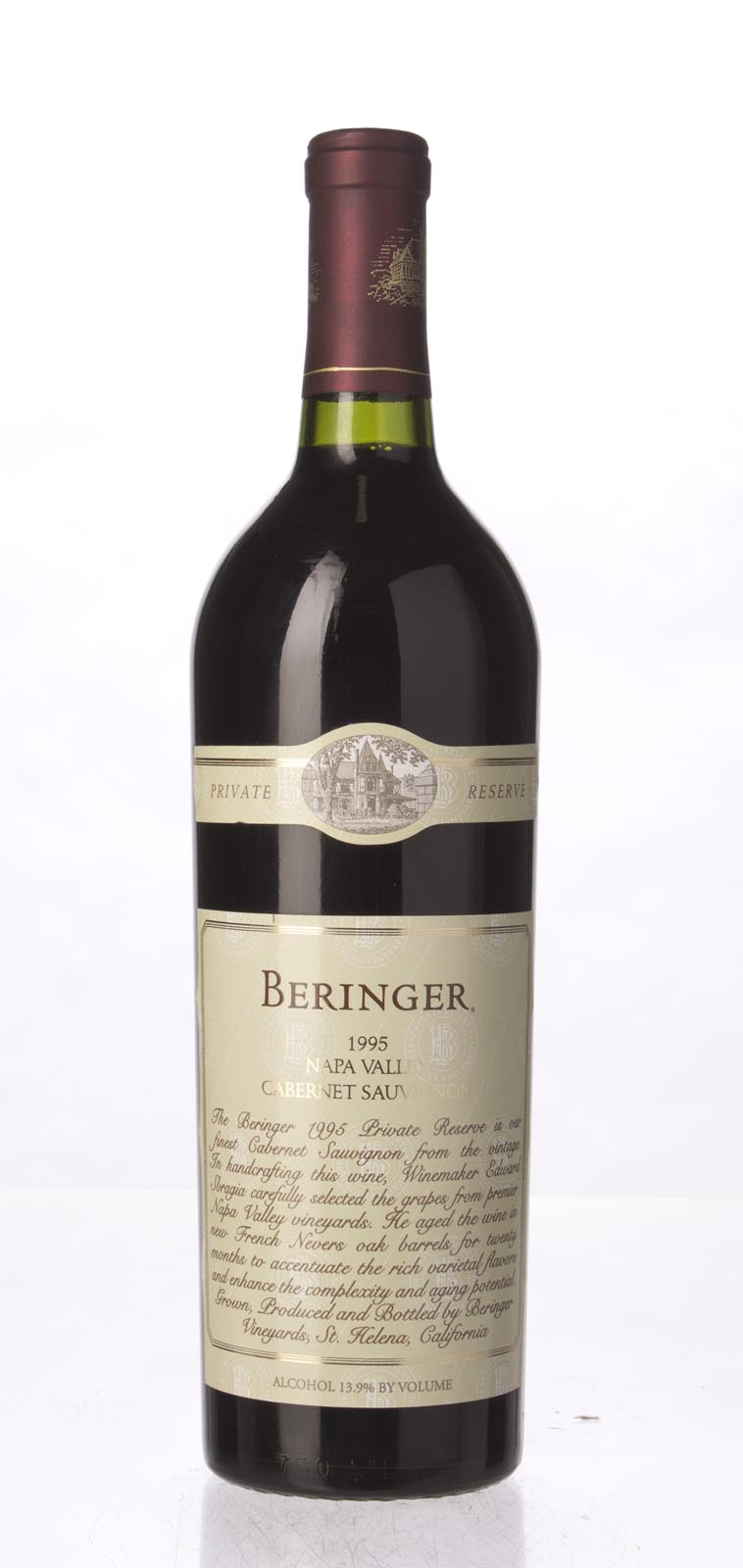 Beringer Cabernet Sauvignon Private Reserve 1995, 750mL (WA96) from The BPW - Merchants of rare and fine wines.