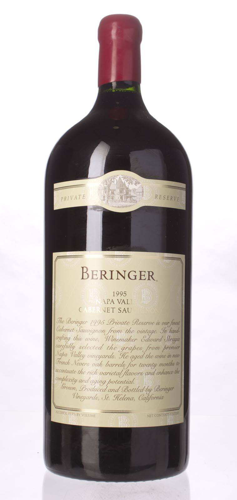 Beringer Cabernet Sauvignon Private Reserve 1995, 6L (WA93, ST92, WS92) from The BPW - Merchants of rare and fine wines.