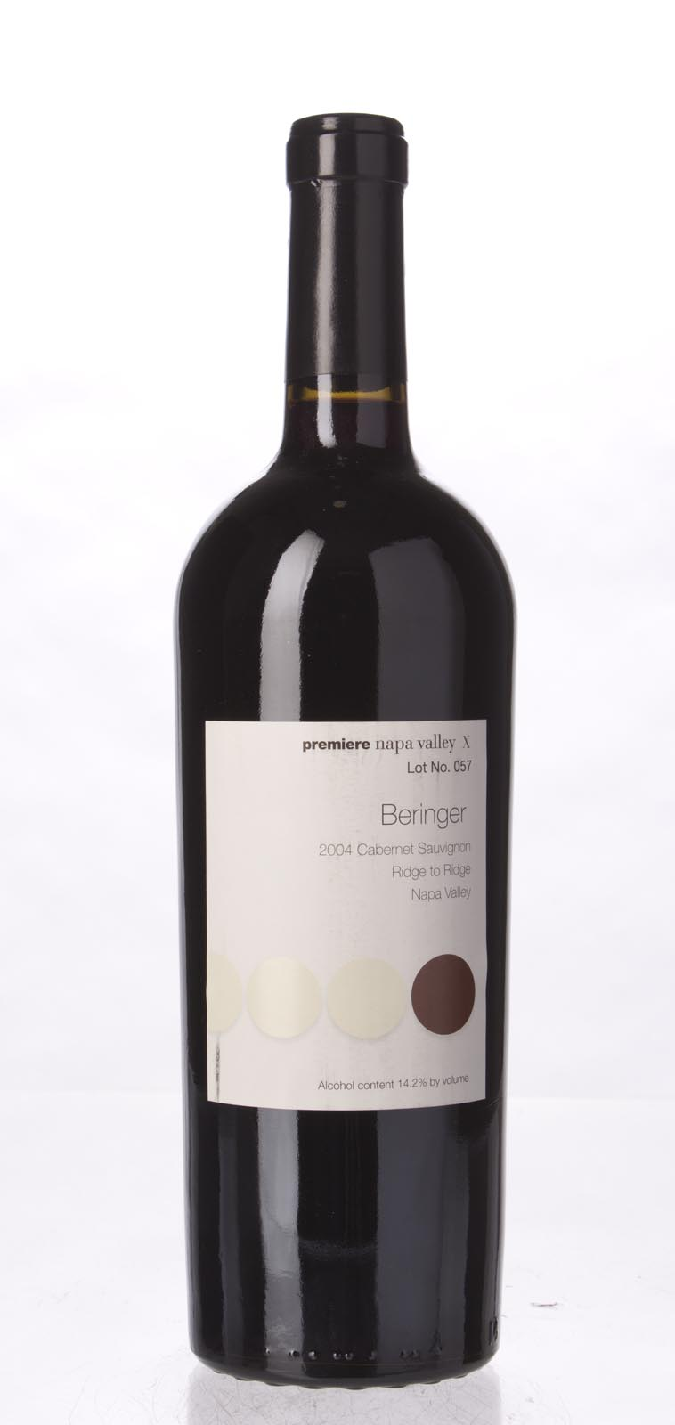 Beringer Cabernet Sauvignon Ridge to Ridge Premier Napa Valley 2004, 750mL () from The BPW - Merchants of rare and fine wines.