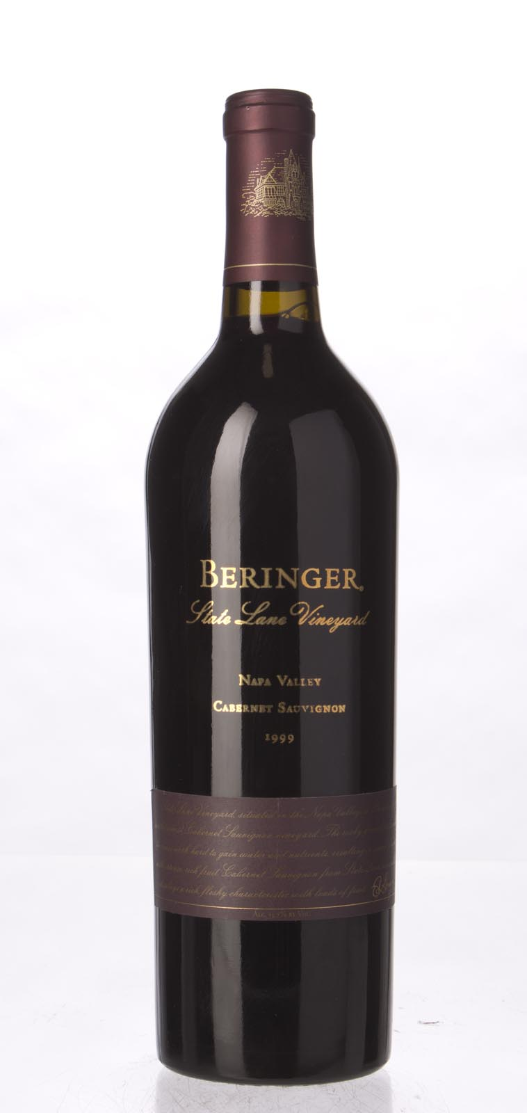 Beringer Cabernet Sauvignon State Lane Vineyard 1999, 750mL () from The BPW - Merchants of rare and fine wines.