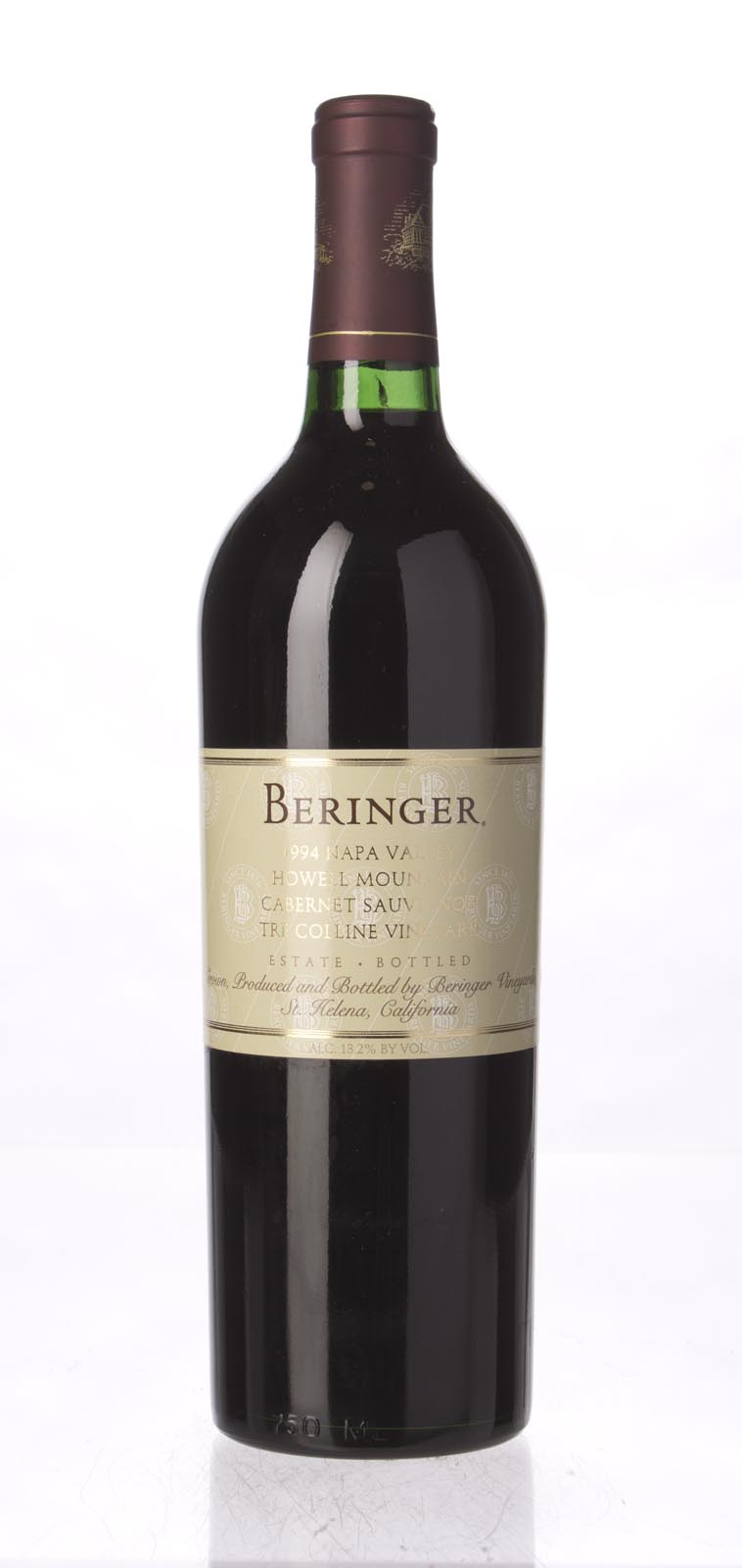 Beringer Cabernet Sauvignon Tre Colline Vineyard 1994, 750mL () from The BPW - Merchants of rare and fine wines.
