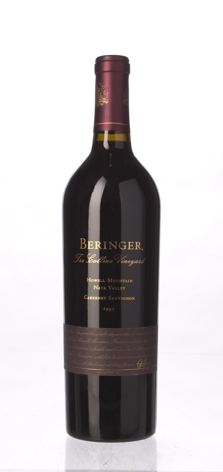 Beringer Cabernet Sauvignon Tre Colline Vineyard 1997, 750mL (WA93, ST93) from The BPW - Merchants of rare and fine wines.