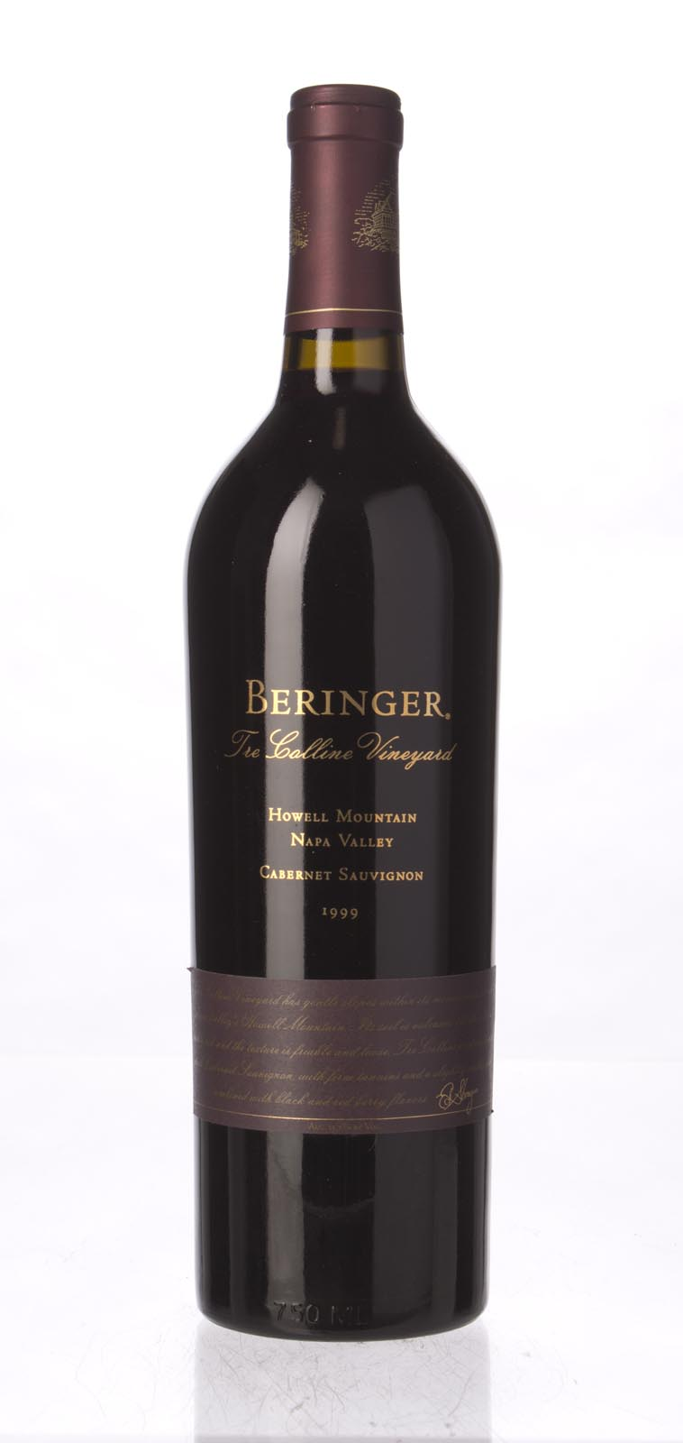 Beringer Cabernet Sauvignon Tre Colline Vineyard 1999, 750mL () from The BPW - Merchants of rare and fine wines.