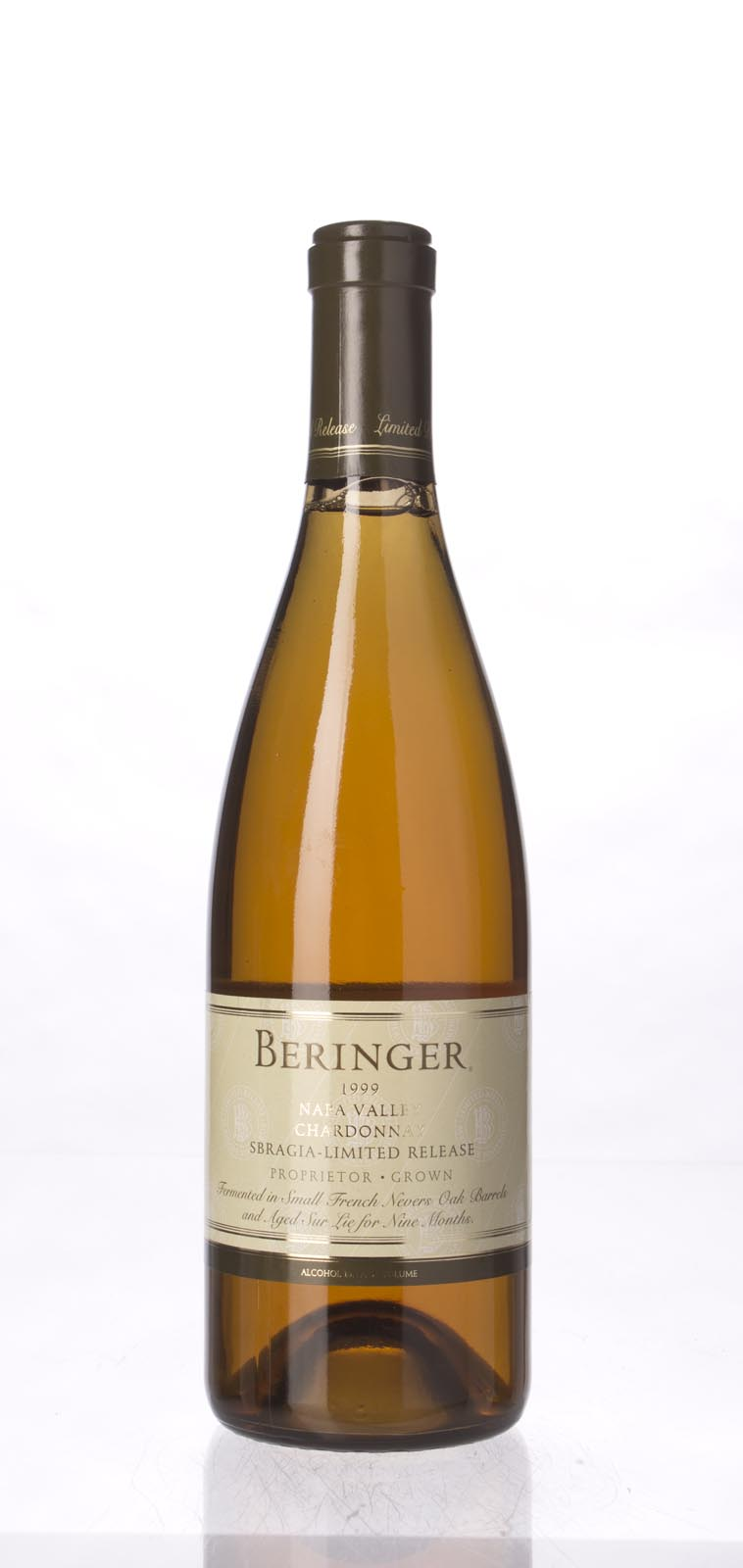 Beringer Chardonnay Sbragia Limited Release 1999, 750mL (WA94, ST92, WS93) from The BPW - Merchants of rare and fine wines.