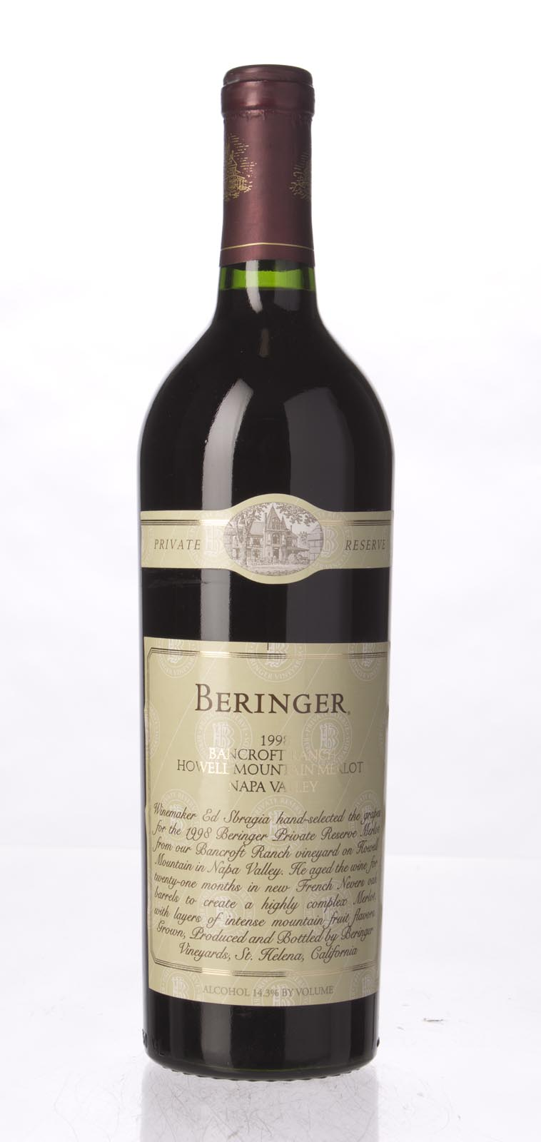 Beringer Merlot Bancroft Ranch 1998,  (ST91-93) from The BPW - Merchants of rare and fine wines.