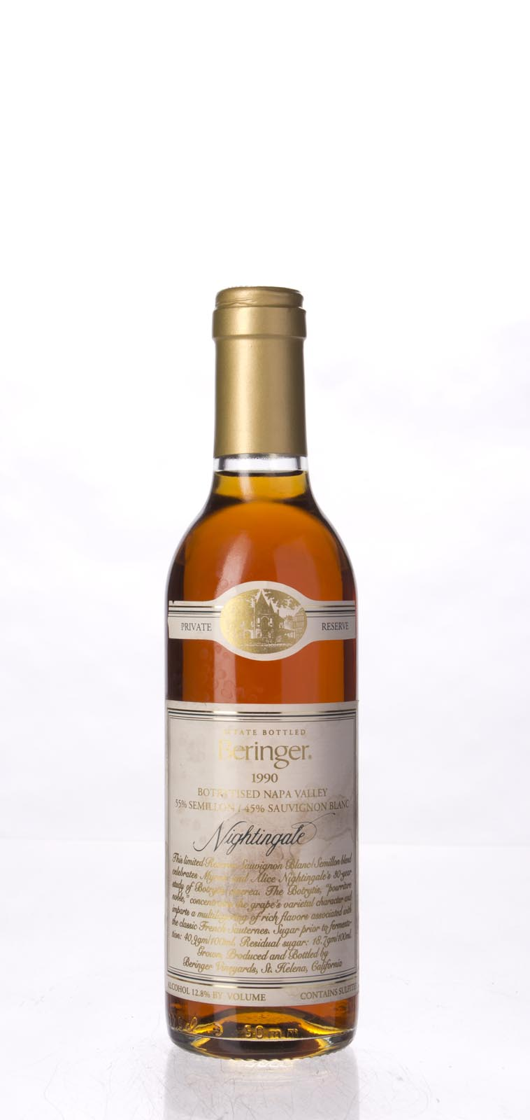 Beringer Nightingale Botrytised White Private Reserve 1990, 375ml () from The BPW - Merchants of rare and fine wines.