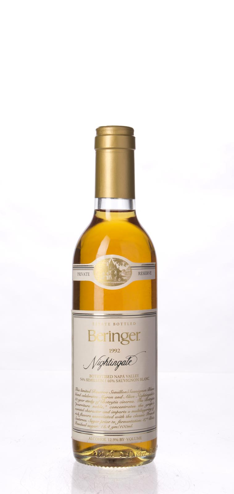 Beringer Nightingale Botrytised White Private Reserve 1992, 375ml (WA93) from The BPW - Merchants of rare and fine wines.
