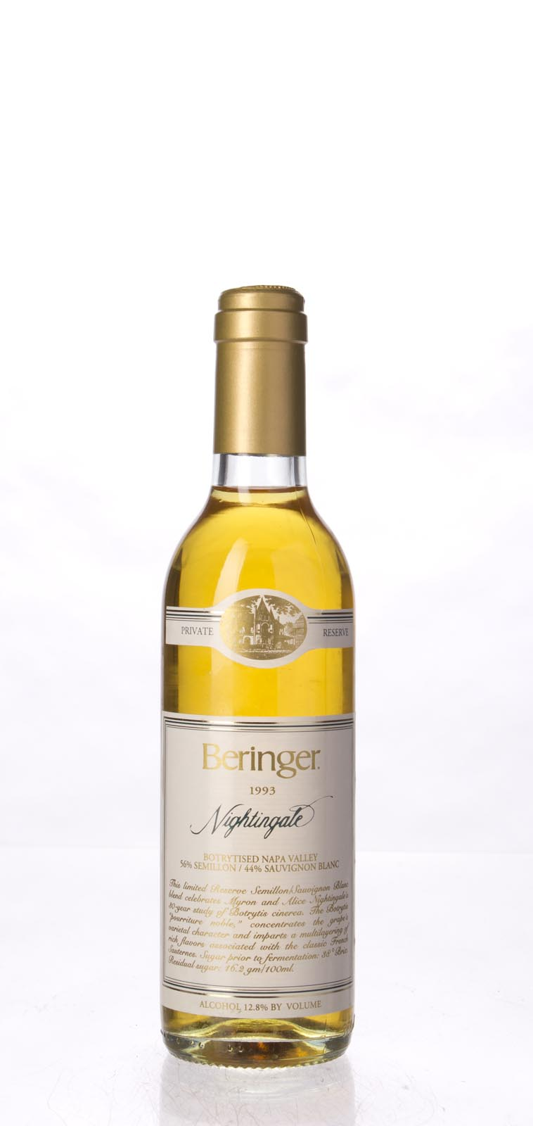 Beringer Nightingale Botrytised White Private Reserve 1993, 375ml () from The BPW - Merchants of rare and fine wines.