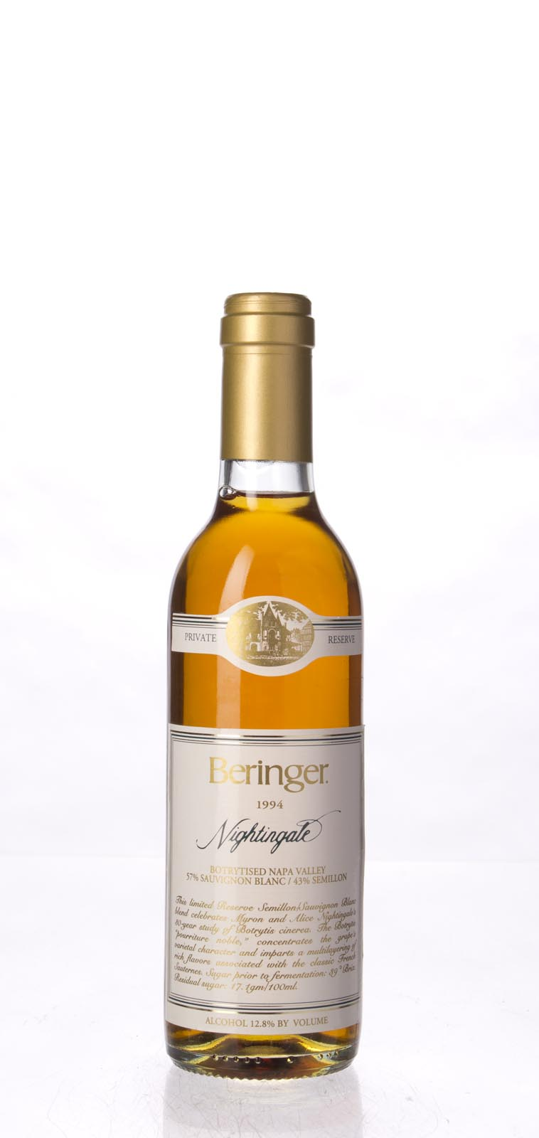 Beringer Nightingale Botrytised White Private Reserve 1994, 375ml (WS94) from The BPW - Merchants of rare and fine wines.