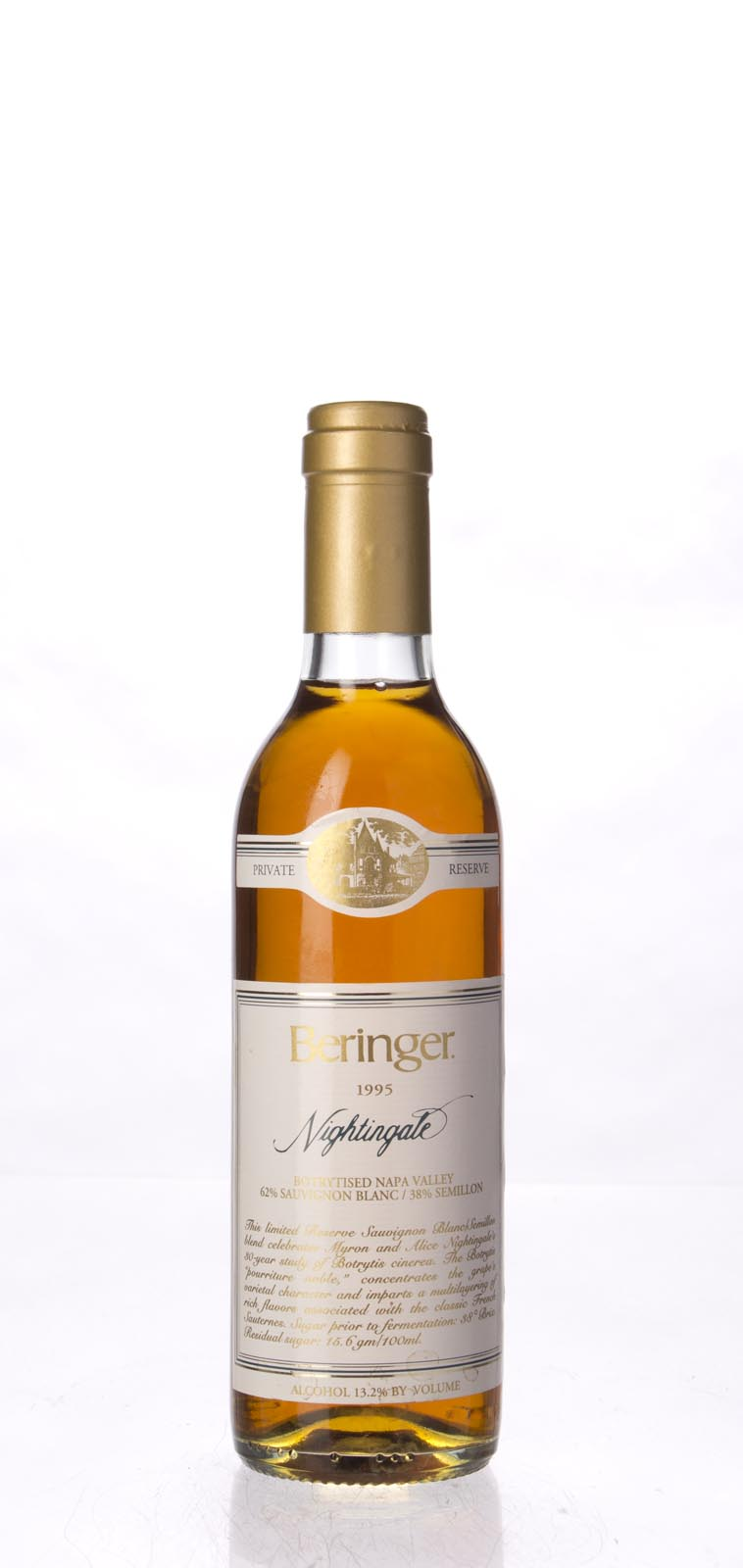 Beringer Nightingale Botrytised White Private Reserve 1995, 375ml (WA92, WS94) from The BPW - Merchants of rare and fine wines.