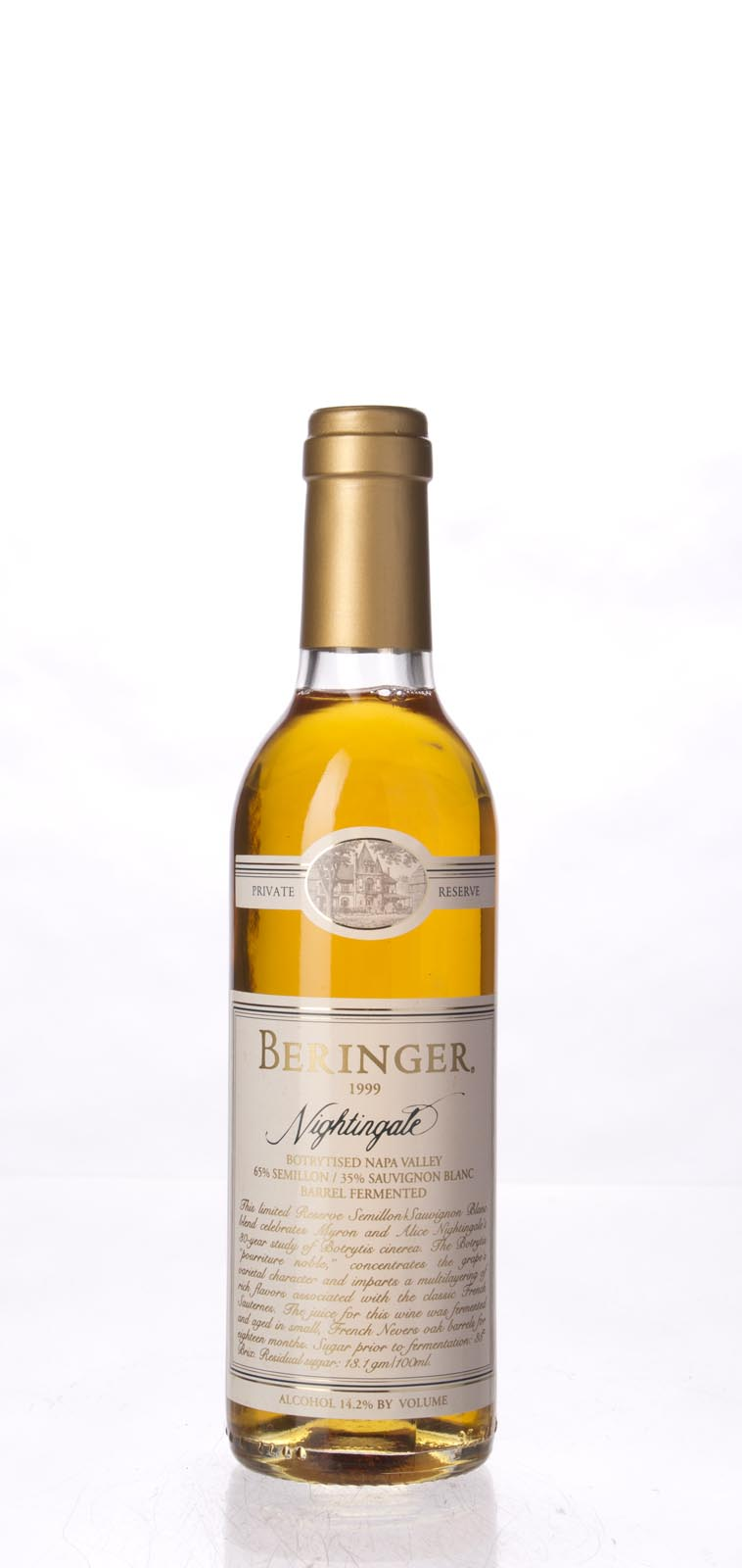 Beringer Nightingale Botrytised White Private Reserve 1999, 375ml (ST91) from The BPW - Merchants of rare and fine wines.