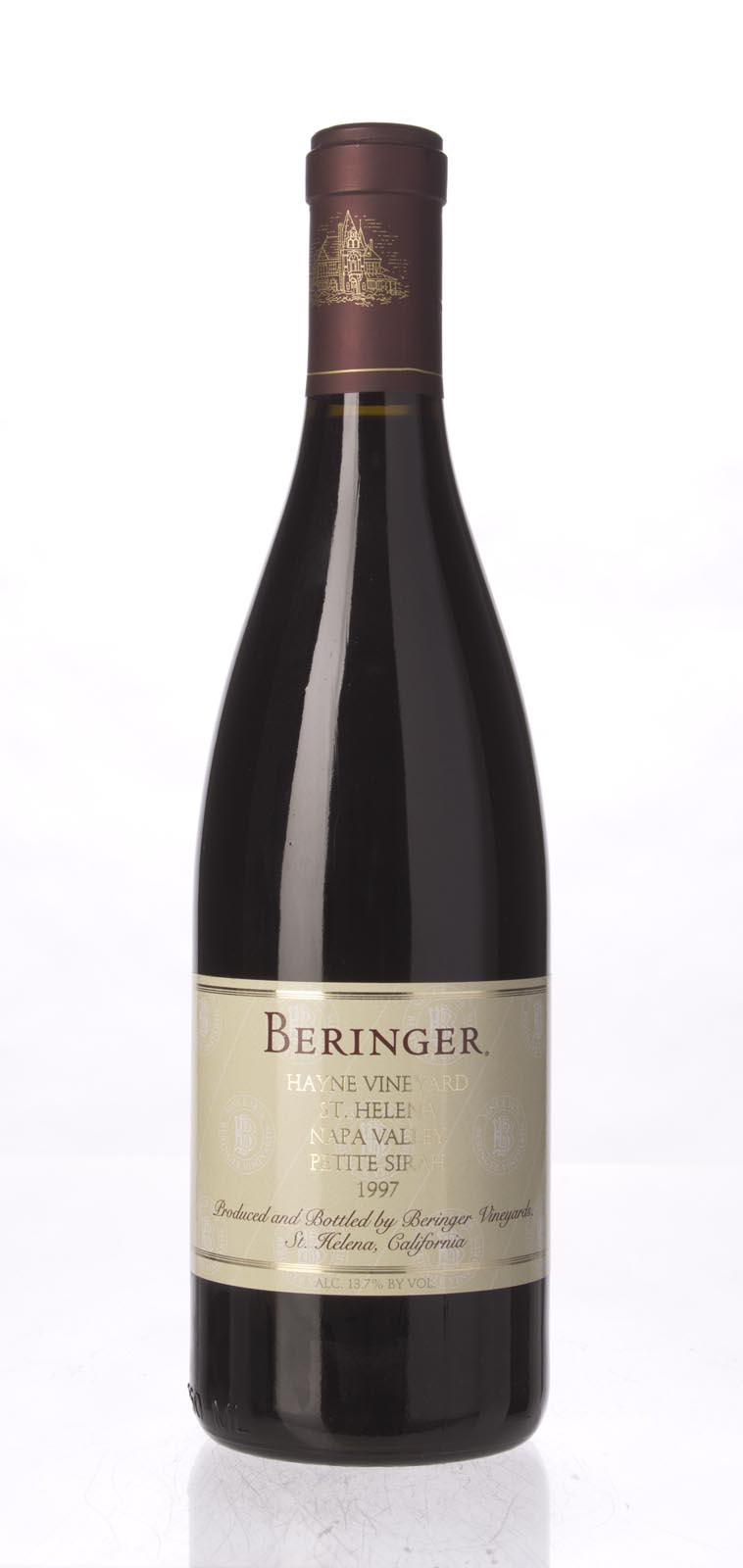 Beringer Petite Sirah Haynes Vineyard 1997, 750ml (WA91) from The BPW - Merchants of rare and fine wines.