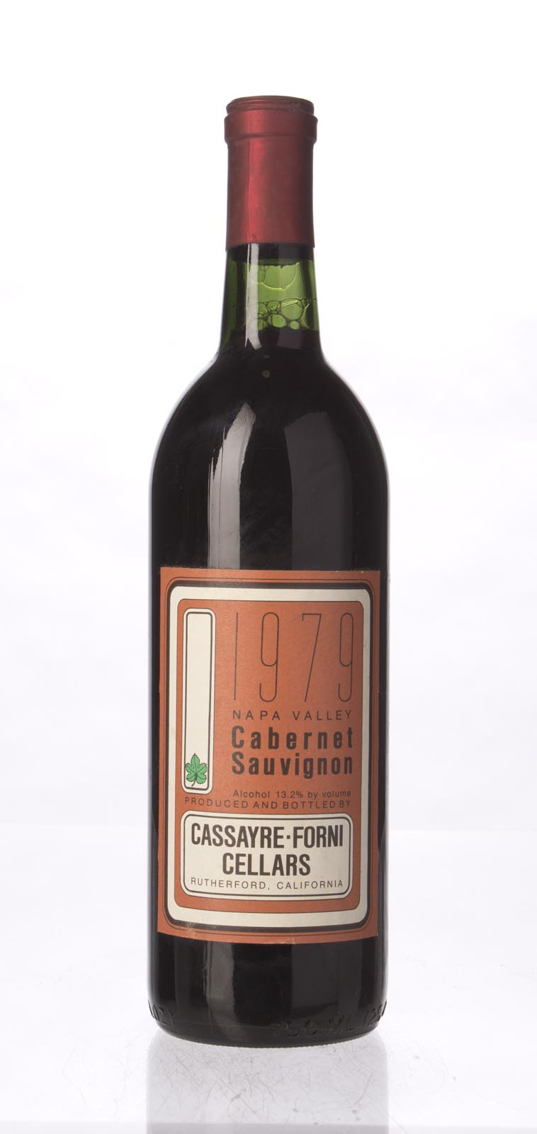 Cassayre Forni Cabernet Sauvignon Napa Valley 1979, 750ml () from The BPW - Merchants of rare and fine wines.