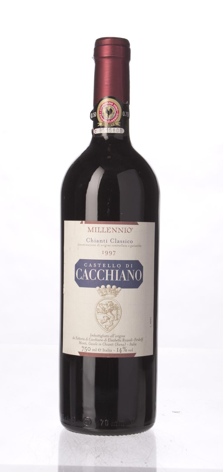 Castello di Cacchiano Chianti Classico Riserva Millennio 1997, 750mL (WA90, ST91) from The BPW - Merchants of rare and fine wines.