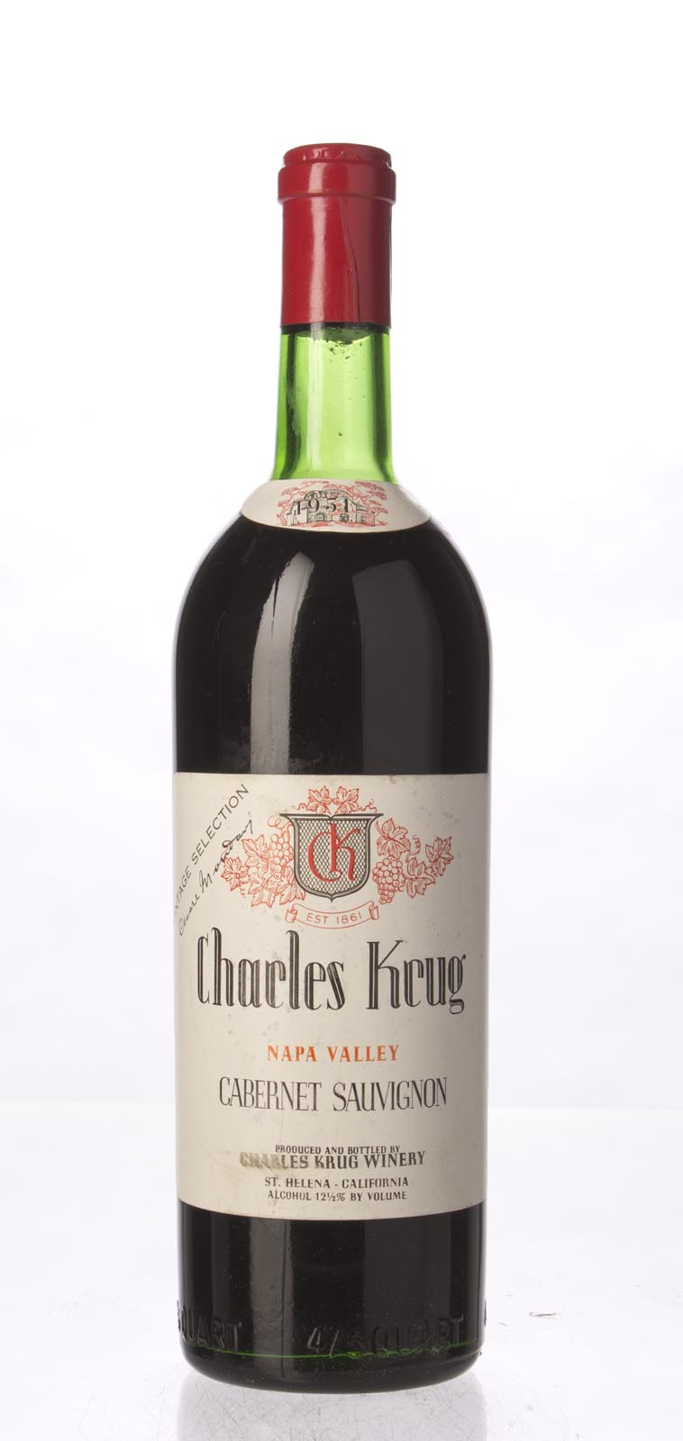 Charles Krug Cabernet Sauvignon Vintage Selection 1951, 750mL () from The BPW - Merchants of rare and fine wines.
