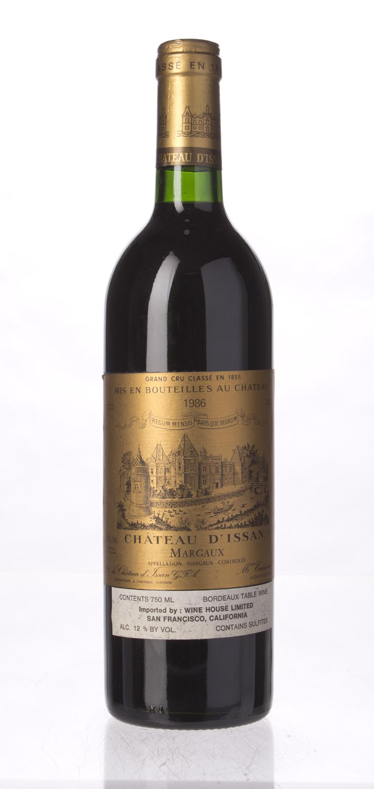 D`Issan 1986, 750mL () from The BPW - Merchants of rare and fine wines.