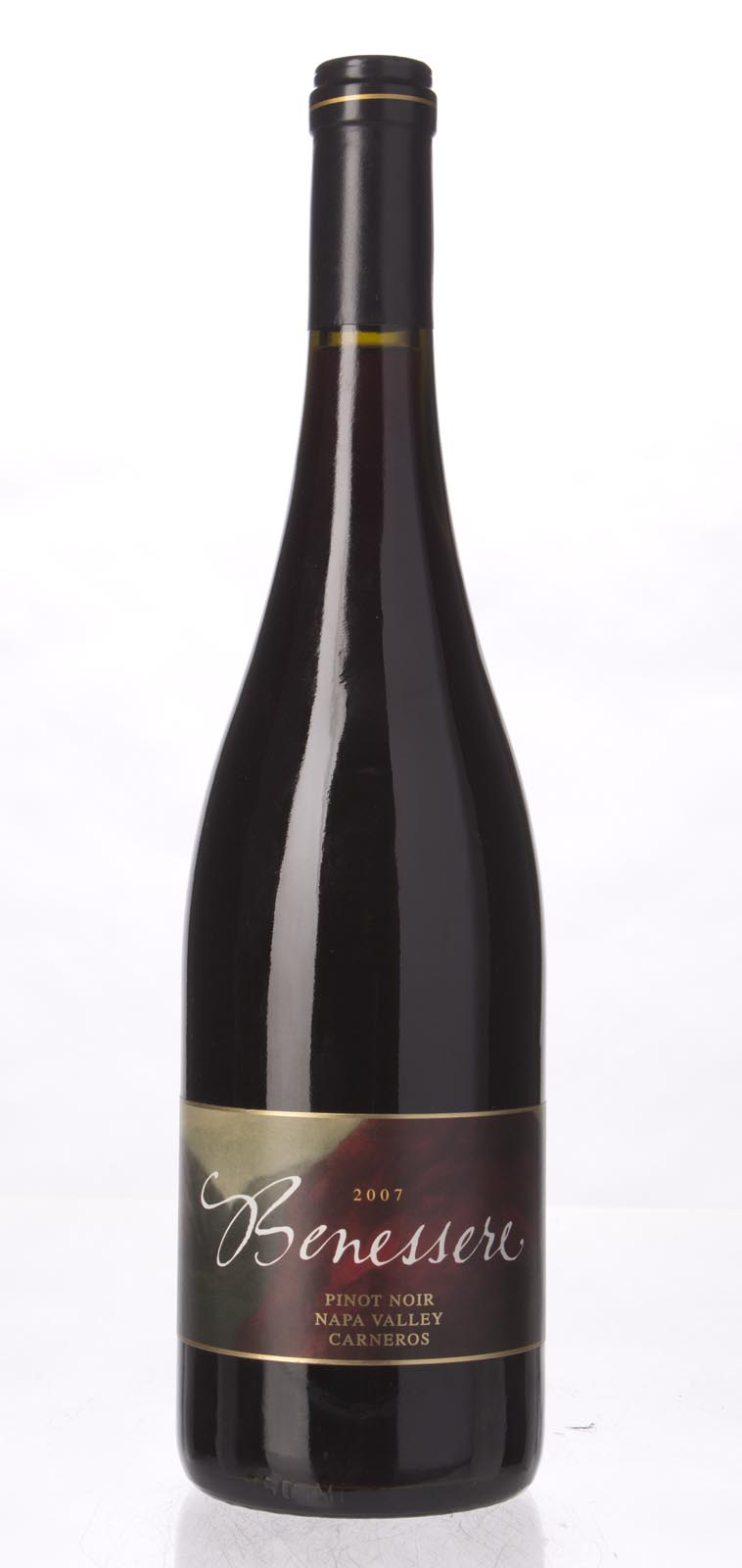 Benessere Pinot Noir Carneros 2007,  (WS90) from The BPW - Merchants of rare and fine wines.
