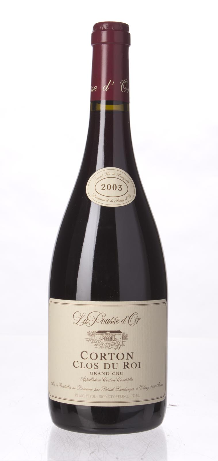 Domaine de la Pousse d`Or Corton Clos du Roi 2003, 750ml (BH92) from The BPW - Merchants of rare and fine wines.