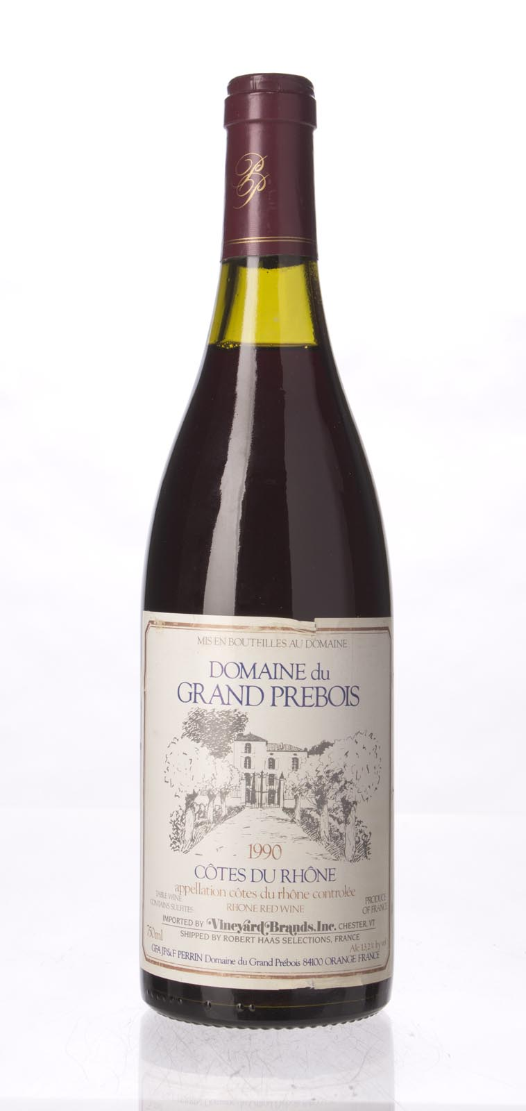 Domaine Grand Prebois Cotes du Rhone 1990, 750mL () from The BPW - Merchants of rare and fine wines.