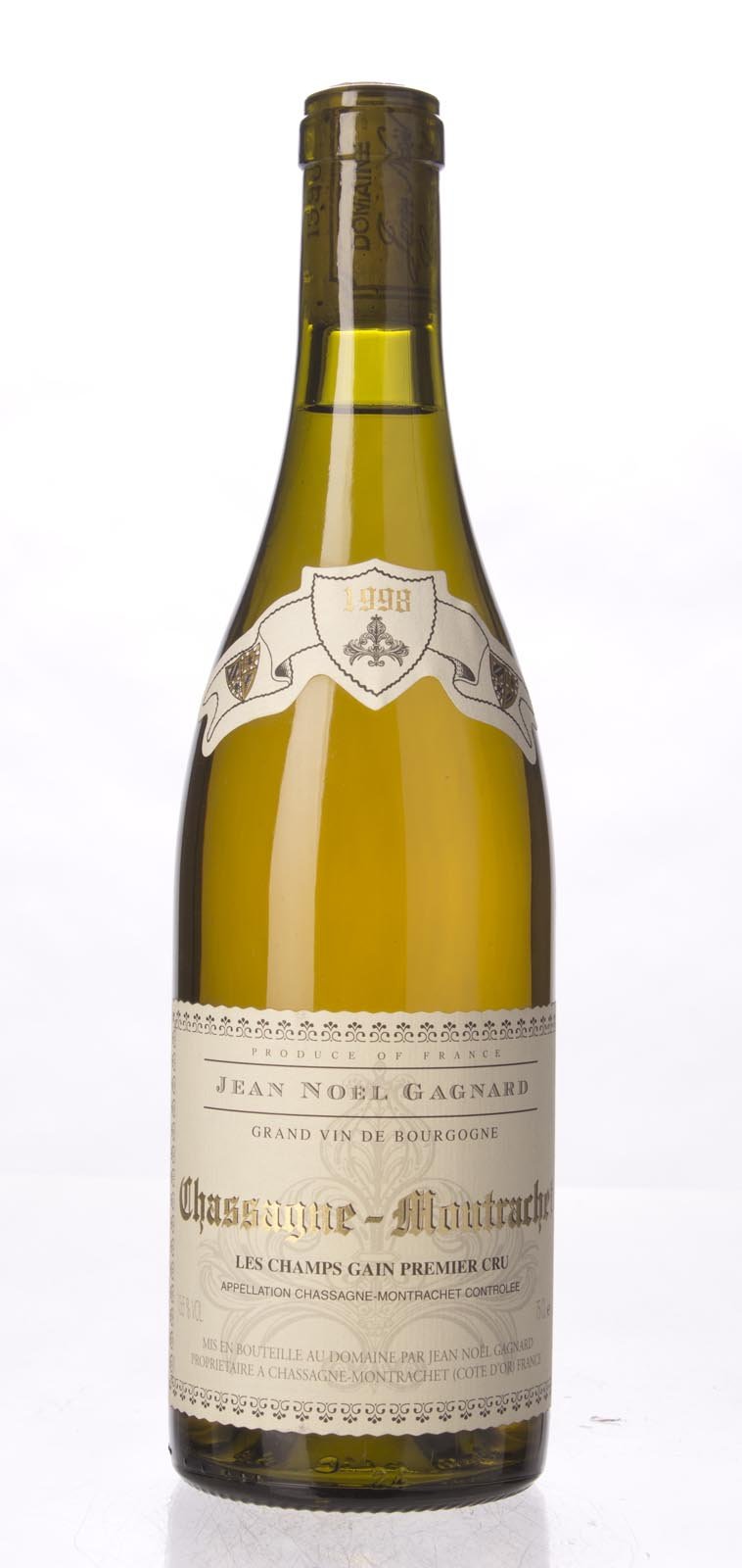 Domaine Jean Noel Gagnard Chassagne Montrachet les Champs Gains 1998, 750ml () from The BPW - Merchants of rare and fine wines.