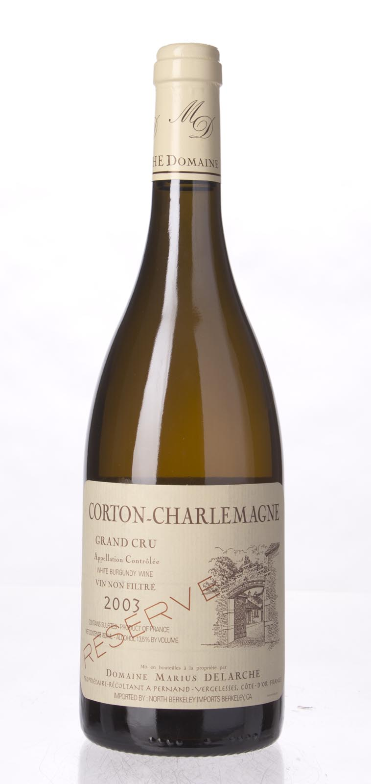 Domaine Marius Delarche Corton Charlemagne Reserve Unfiltered 2003, 750ml () from The BPW - Merchants of rare and fine wines.